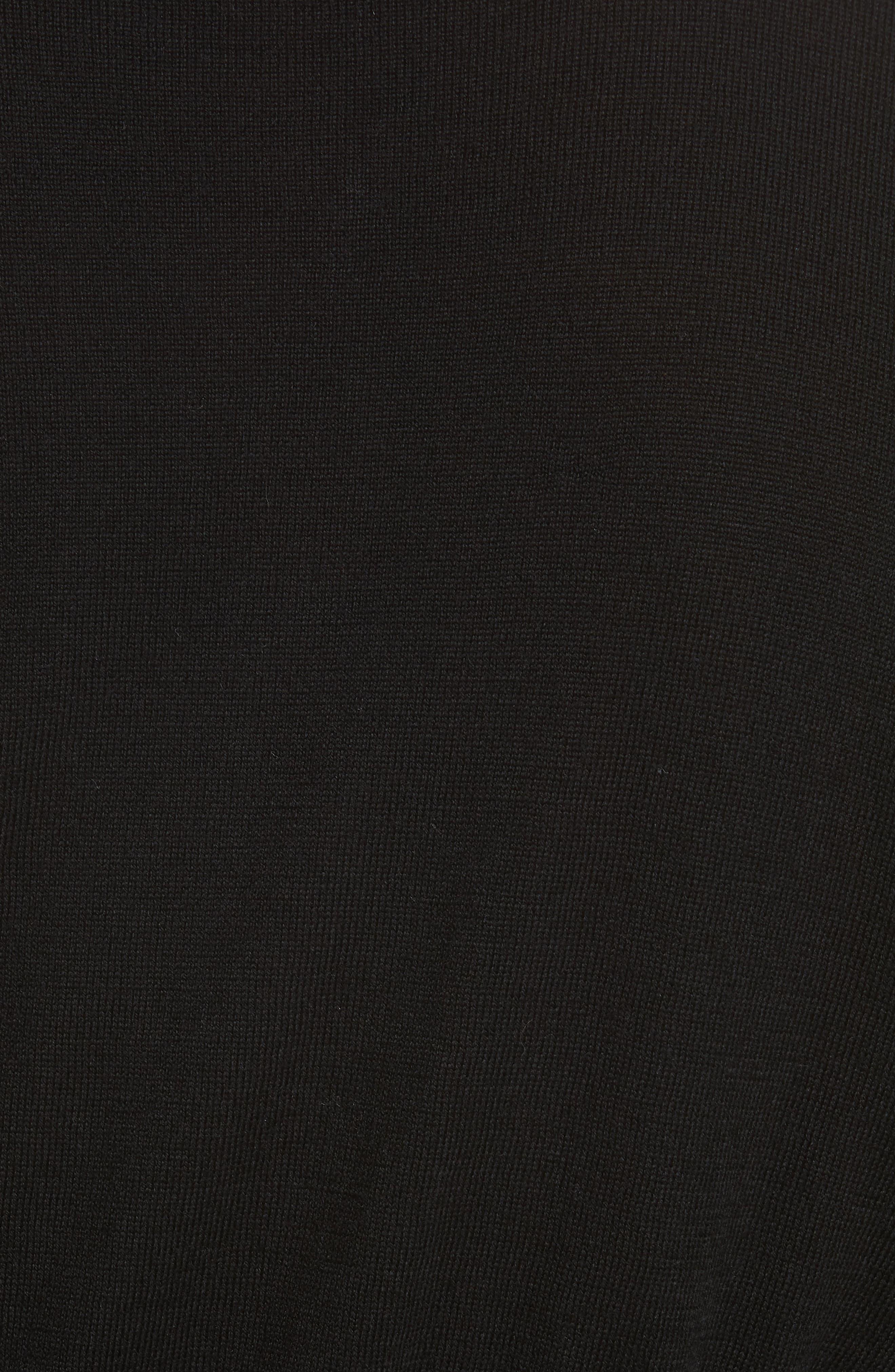 Gem Button Cardigan,                             Alternate thumbnail 5, color,                             BLACK