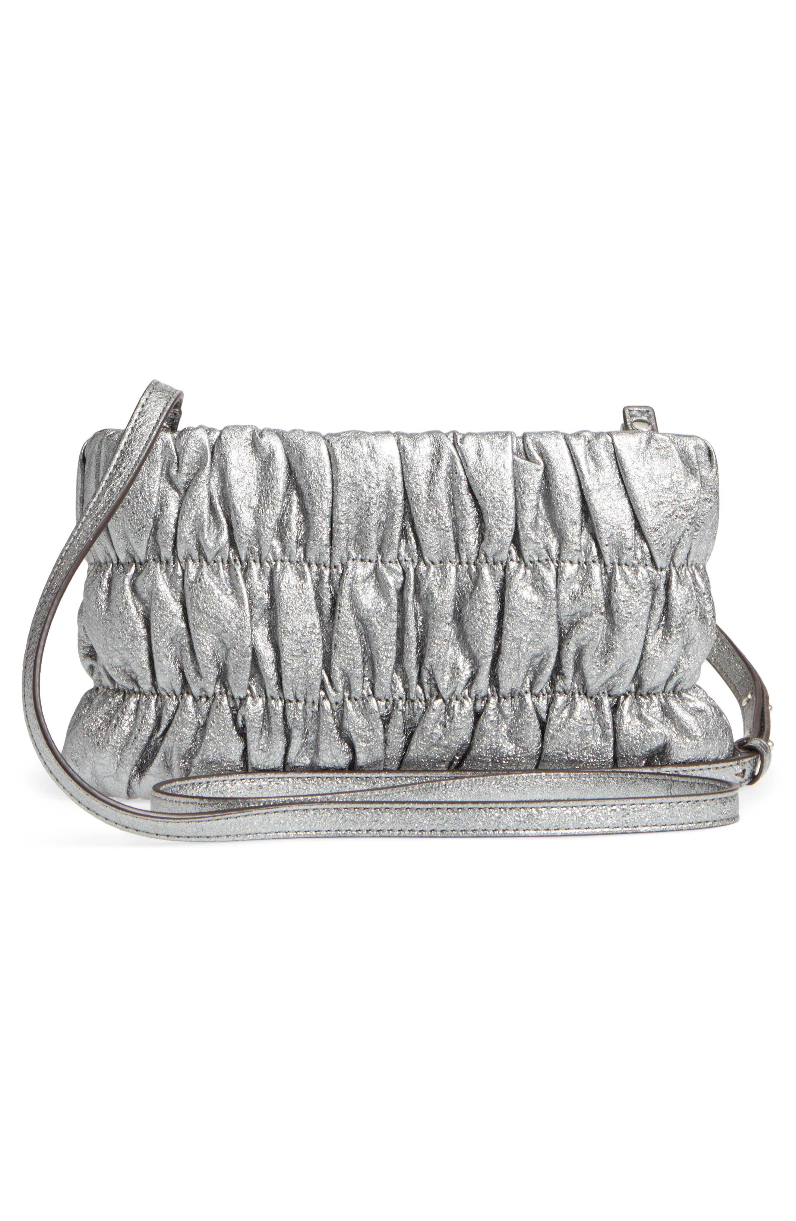 MICHAEL Michael Kors Webster Metallic Leather Clutch,                             Alternate thumbnail 5, color,
