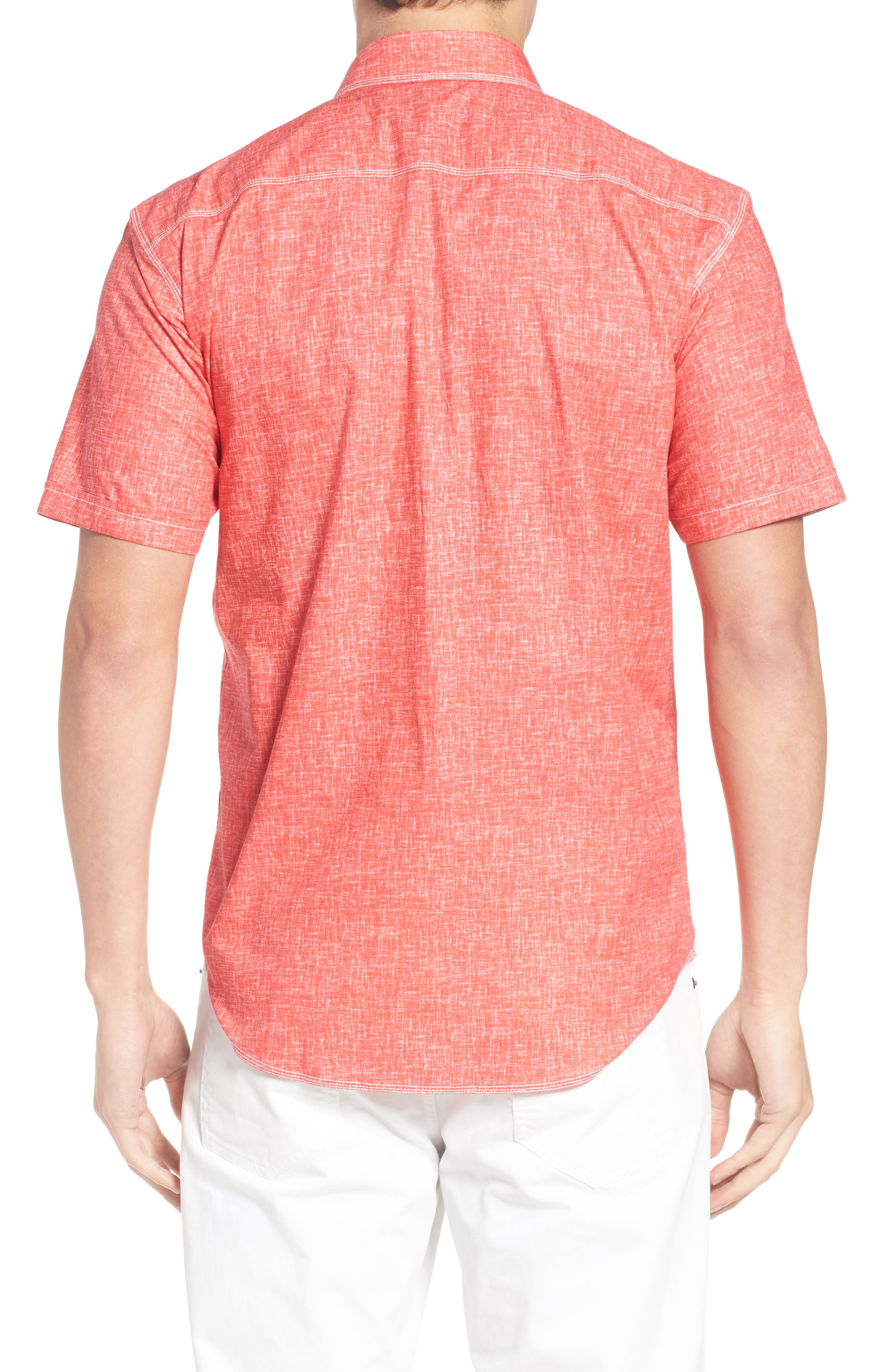 Shaped Fit Solid Sport Shirt,                             Alternate thumbnail 9, color,