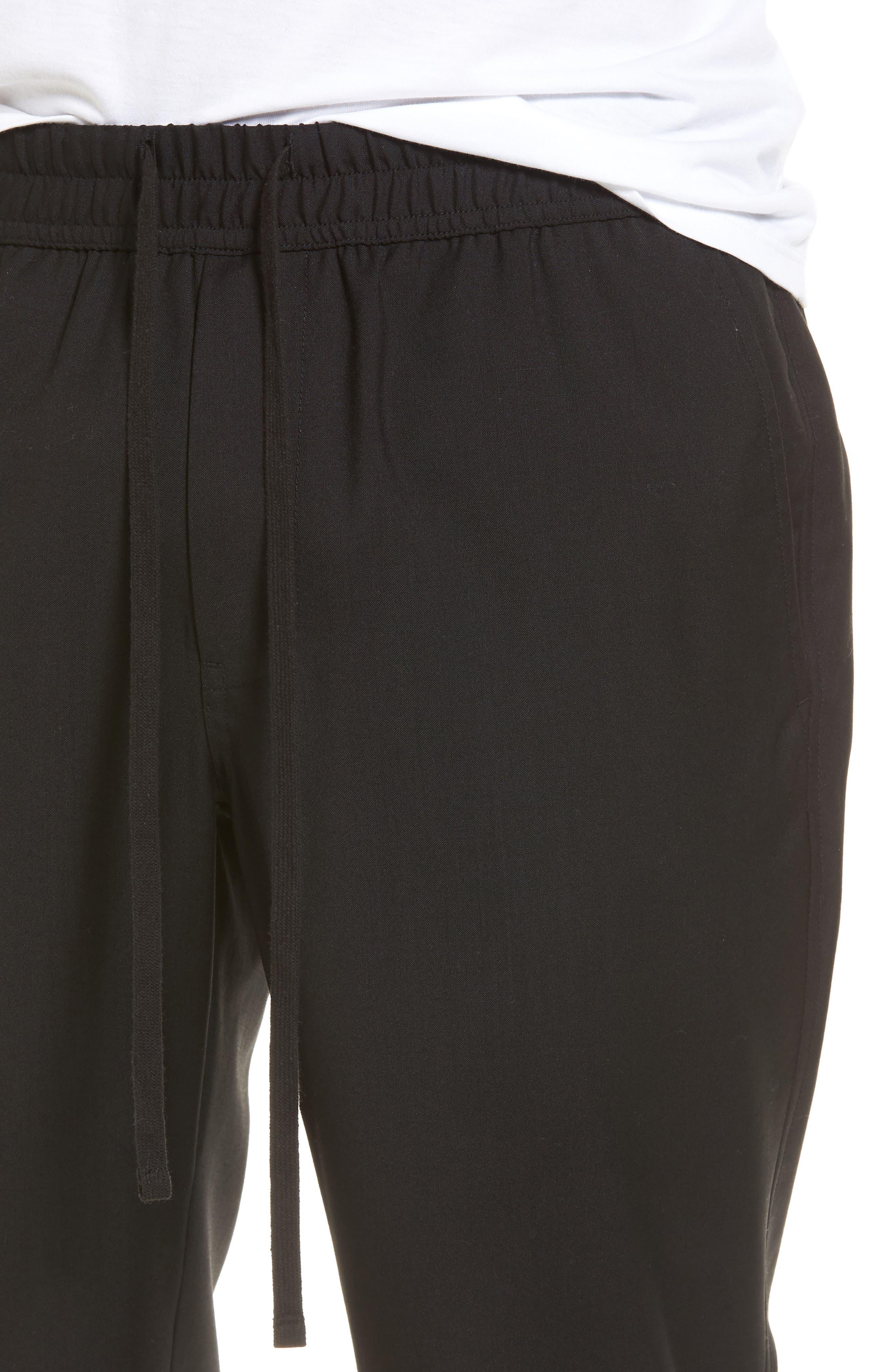 Slim Fit Wool Track Pants,                             Alternate thumbnail 4, color,                             001