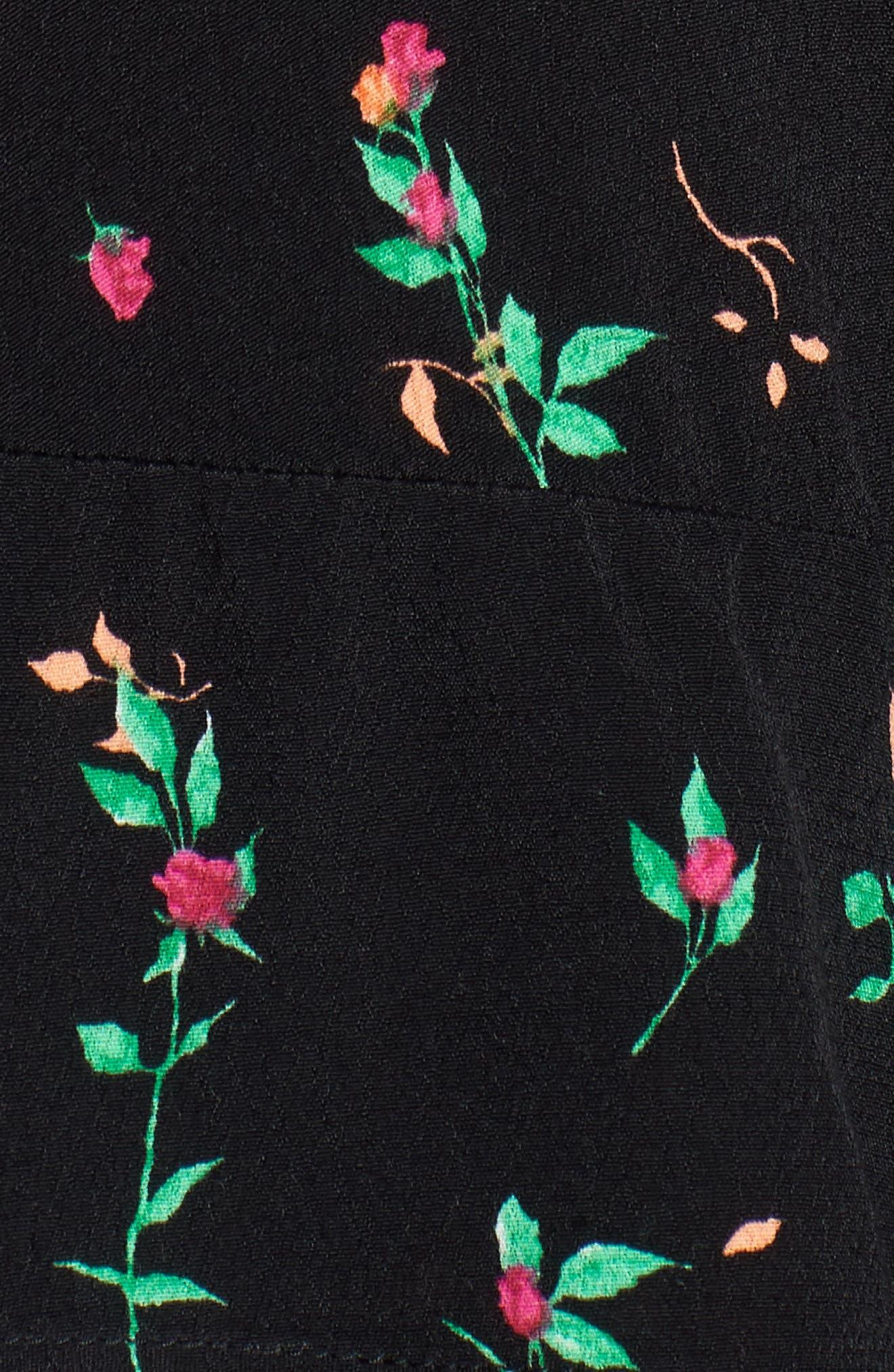 Mabel Cutout Asymmetrical Dress,                             Alternate thumbnail 5, color,                             001