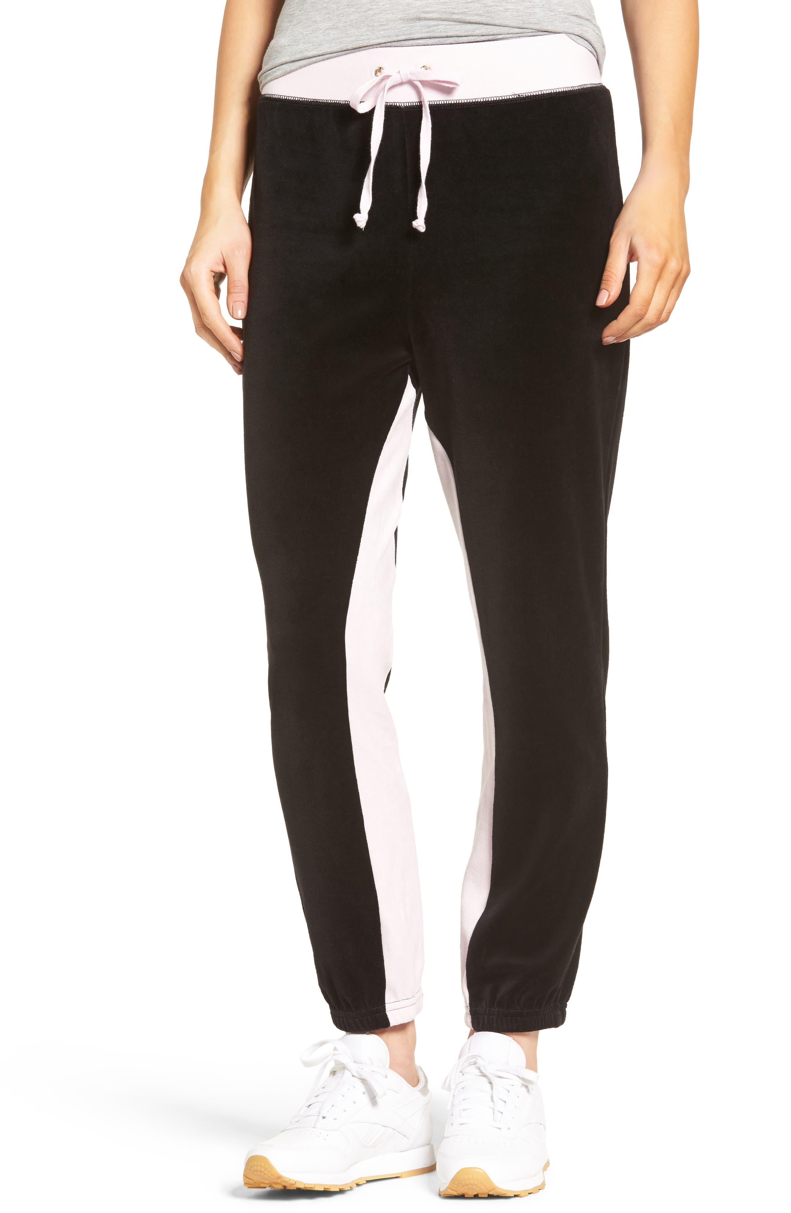 Silverlake Colorblock Velour Track Pants,                         Main,                         color, 685