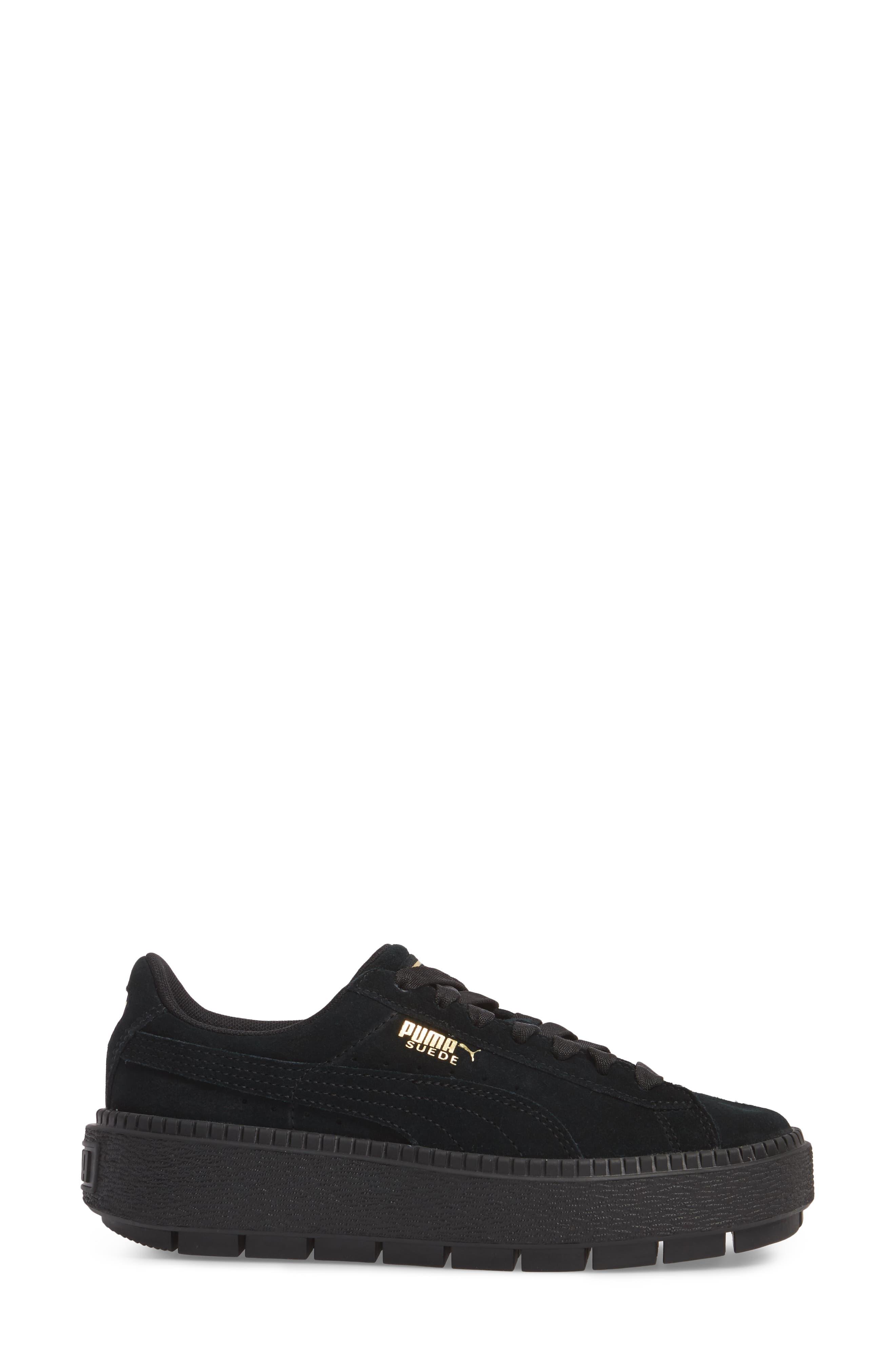 Trace Platform Sneaker,                             Alternate thumbnail 3, color,                             001