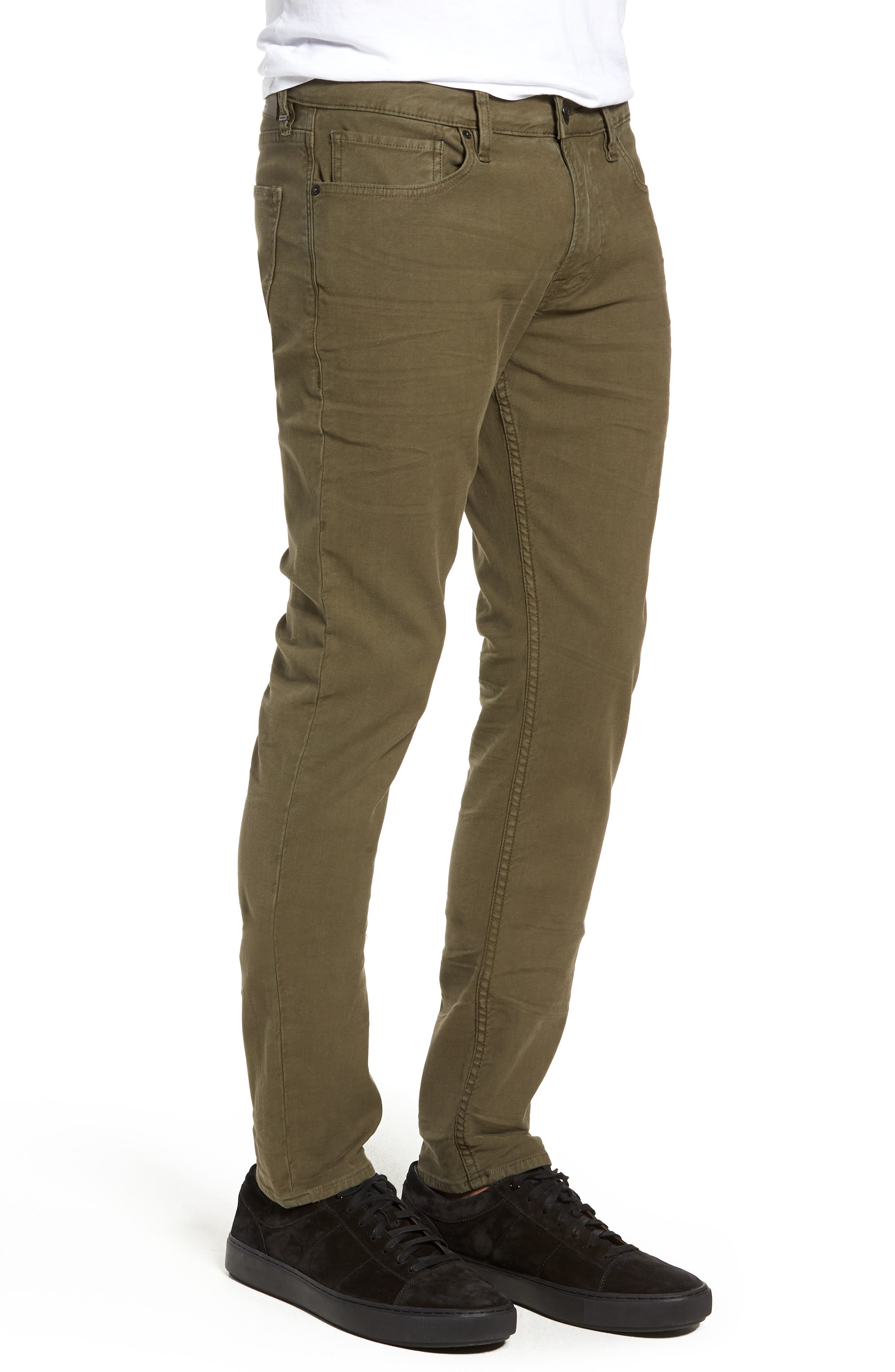 Axl Skinny Fit Jeans,                             Alternate thumbnail 3, color,                             FATIGUE GREEN
