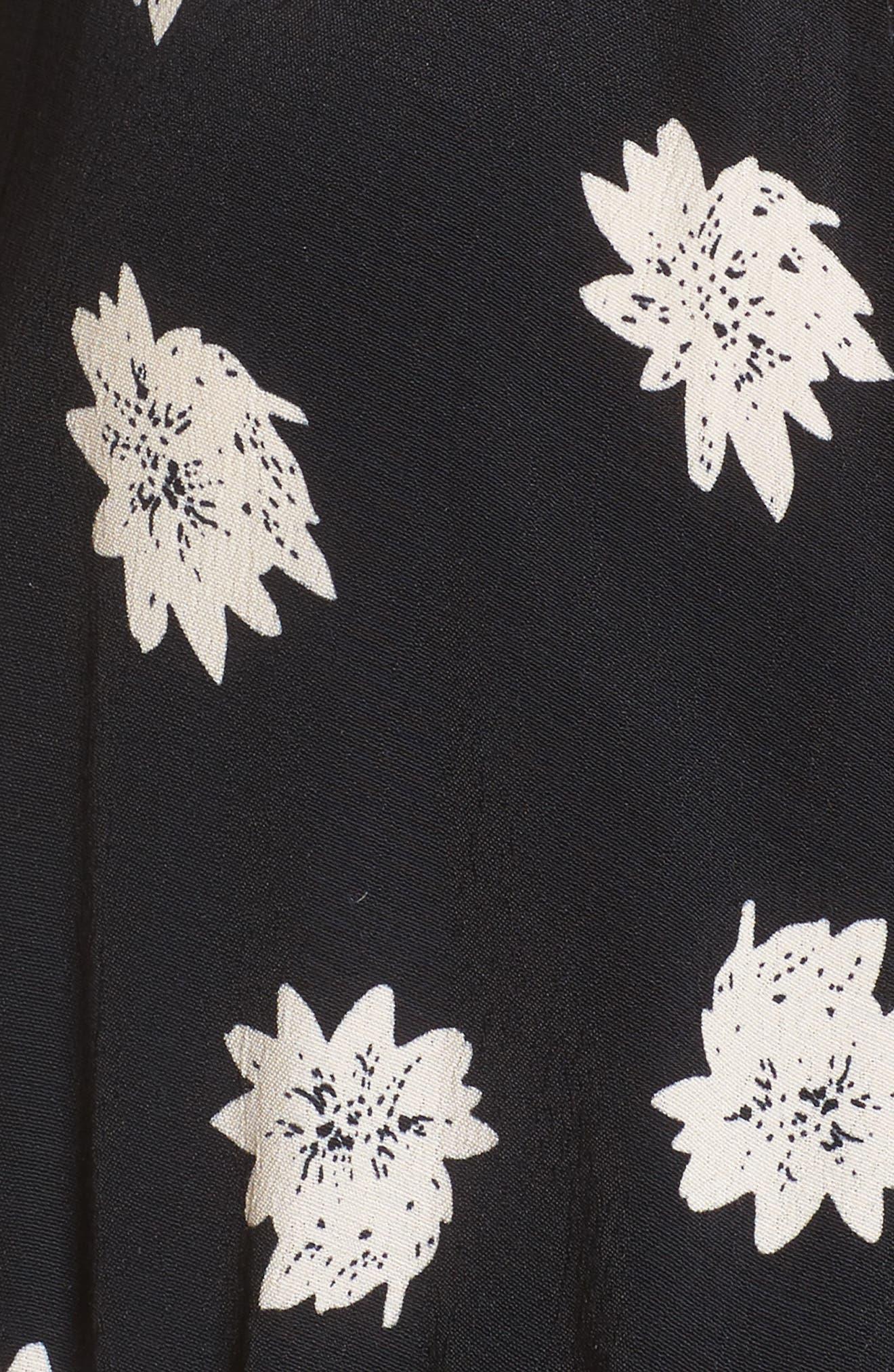 Oslo Floral Minidress,                             Alternate thumbnail 5, color,                             001