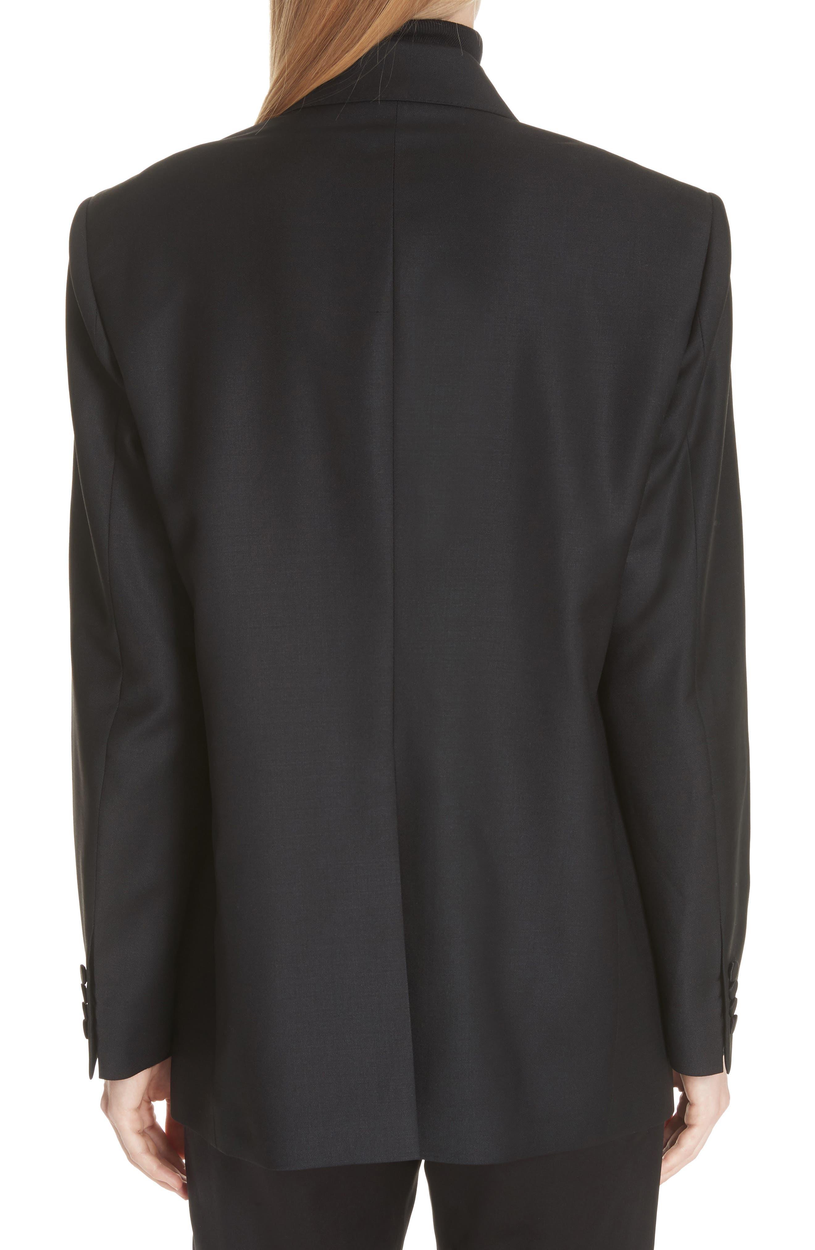 Thompson Wool & Mohair Blazer,                             Alternate thumbnail 2, color,                             BLACK