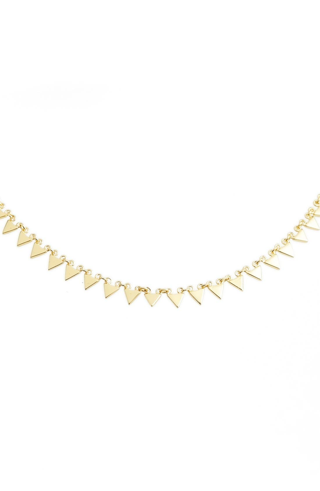 Triangle Collar Necklace,                             Alternate thumbnail 5, color,