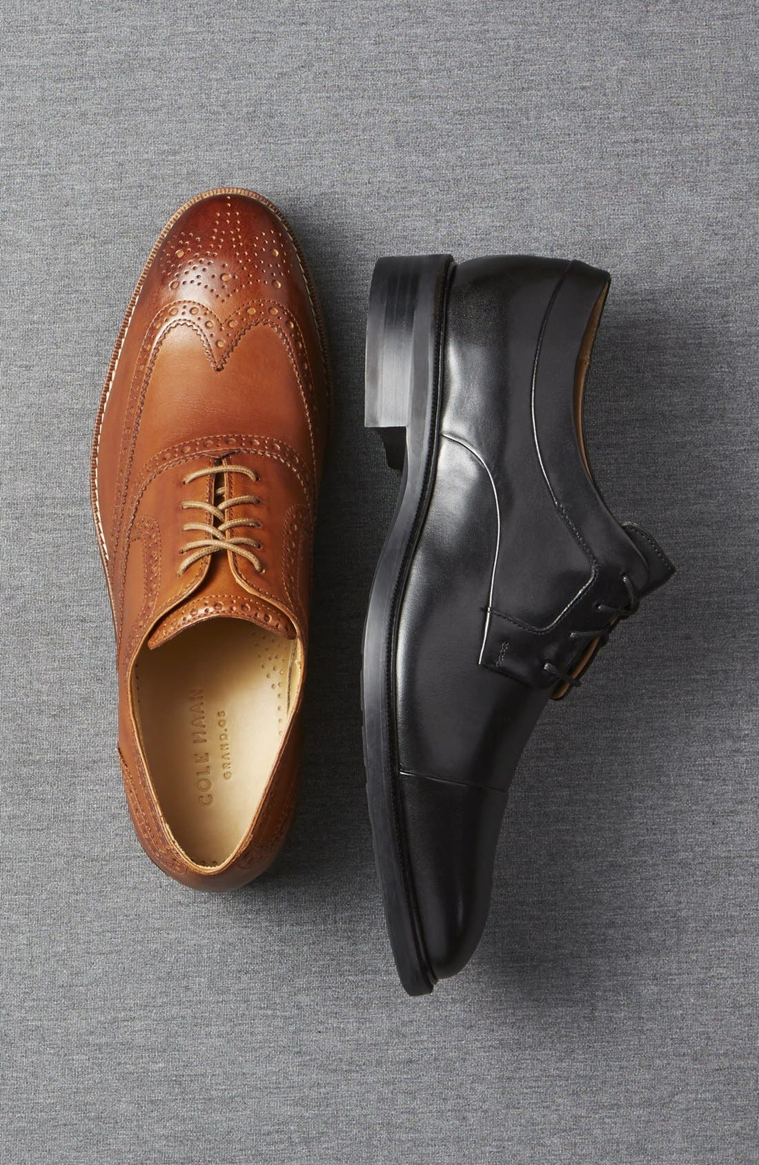 'Cambridge' Wingtip,                             Alternate thumbnail 5, color,                             BLACK