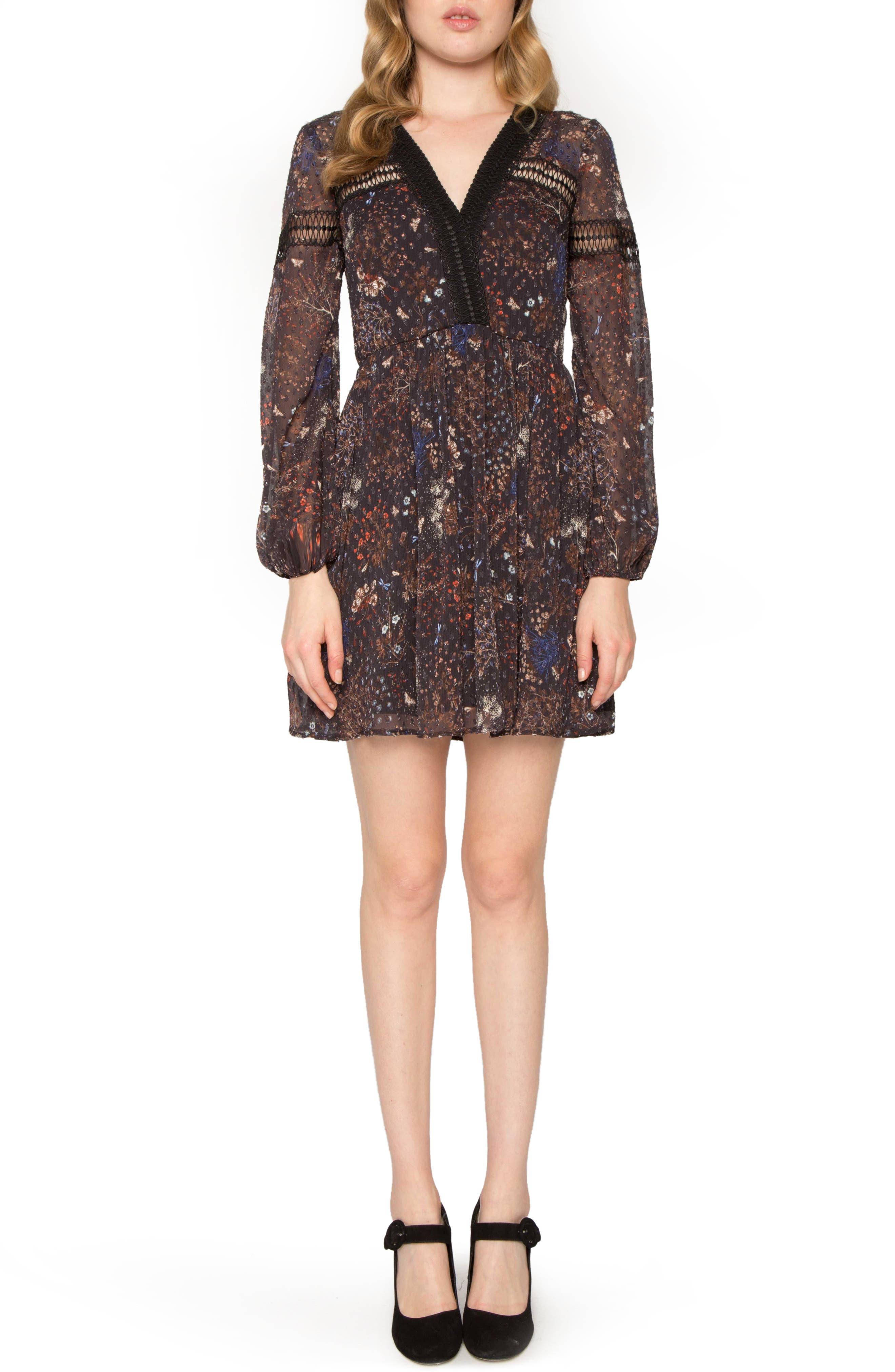 Print A-Line Dress,                         Main,                         color, 001
