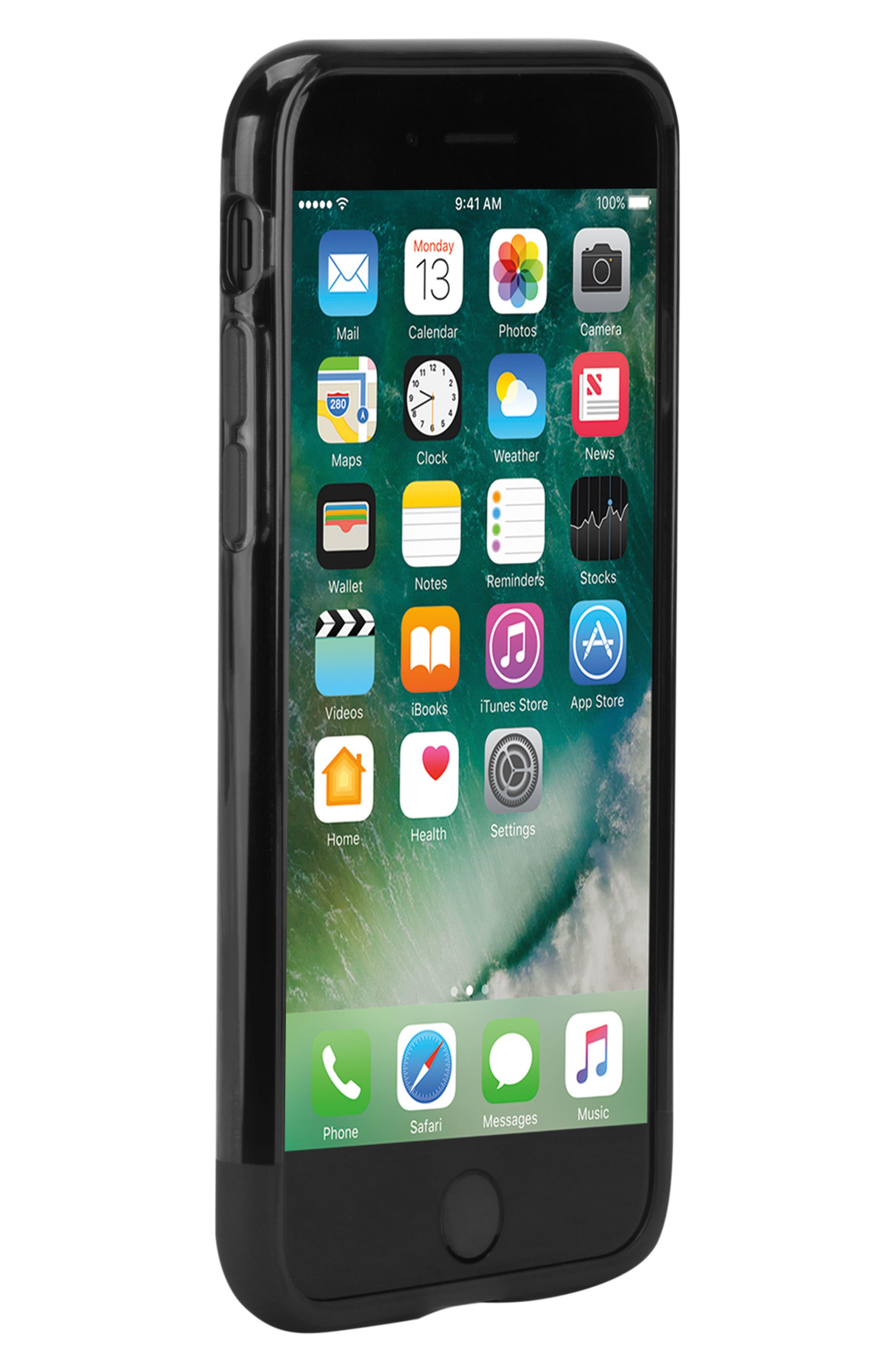 Protective iPhone 7/8 Case,                             Alternate thumbnail 4, color,                             BLACK