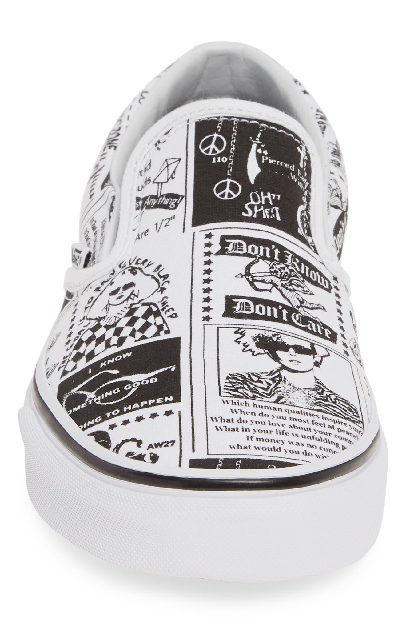 VANS,                             x Ashley Williams Print Classic Slip-On Sneaker,                             Alternate thumbnail 4, color,                             100