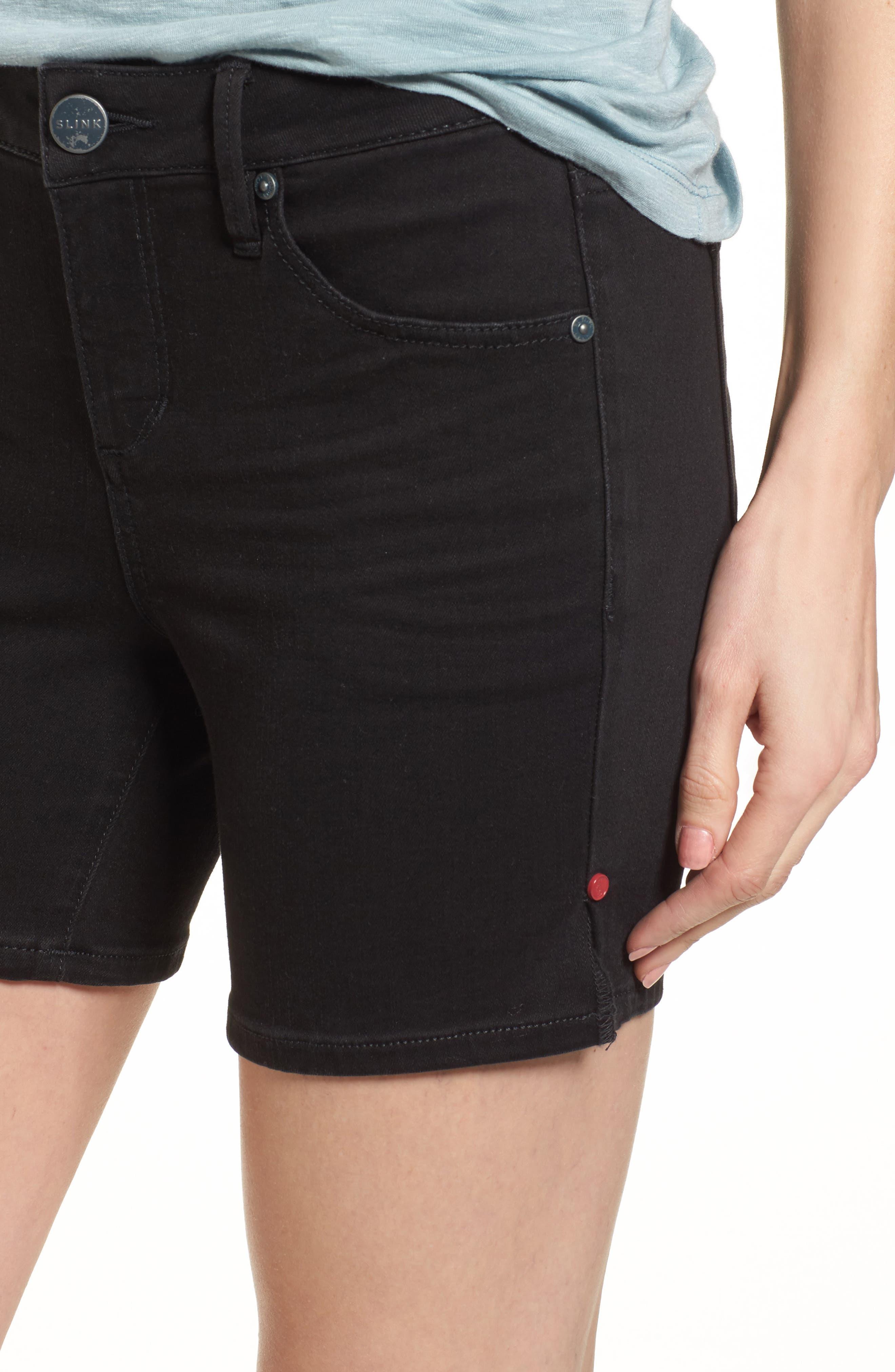 Side Vent Denim Shorts,                             Alternate thumbnail 4, color,