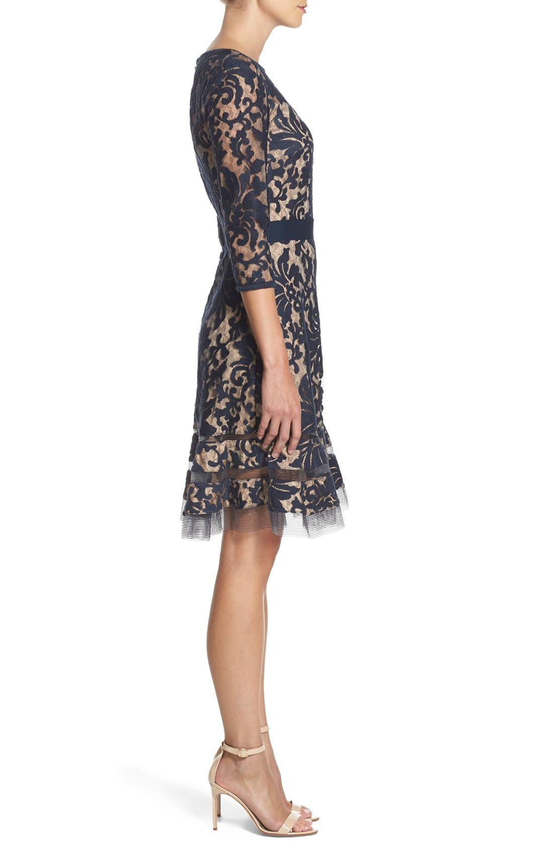 Lace Overlay Dress,                             Alternate thumbnail 7, color,                             408