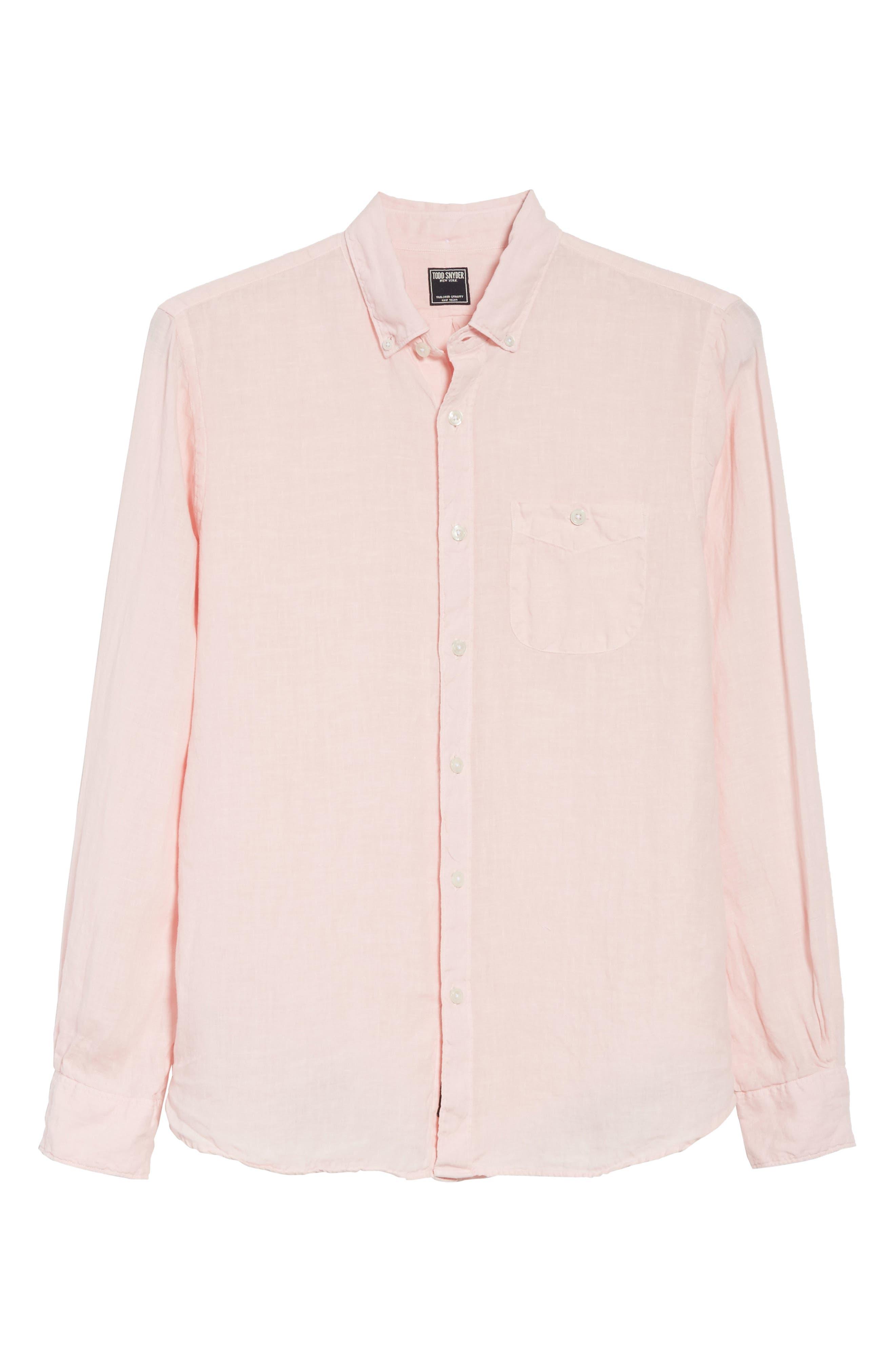 Linen Woven Shirt,                             Alternate thumbnail 6, color,                             650