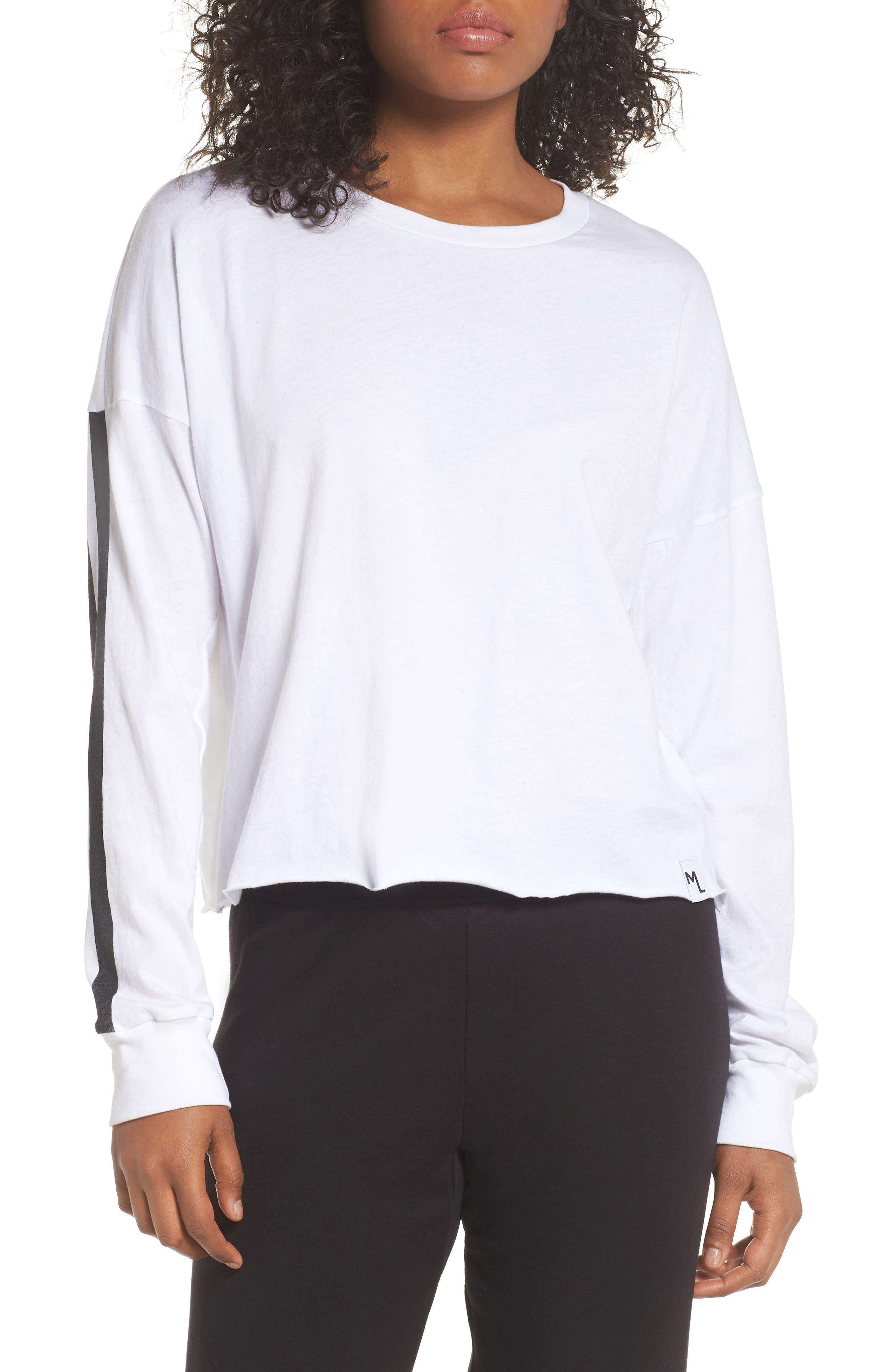 Keegan Crop Lounge Tee,                         Main,                         color,