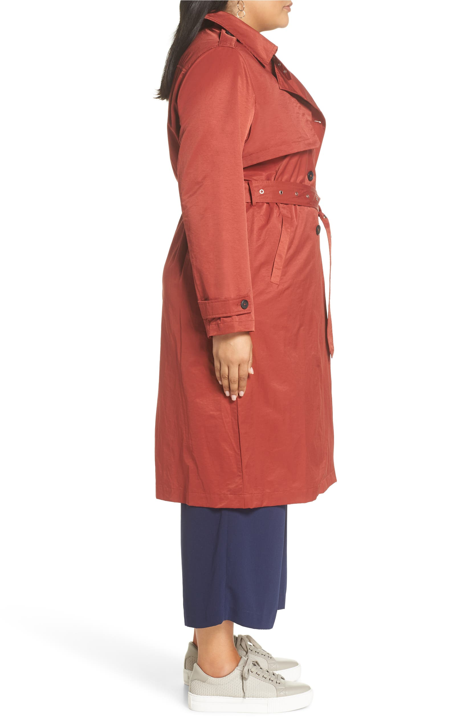 fe79ceaabcf Halogen® Double Breasted Trench Coat (Plus Size)
