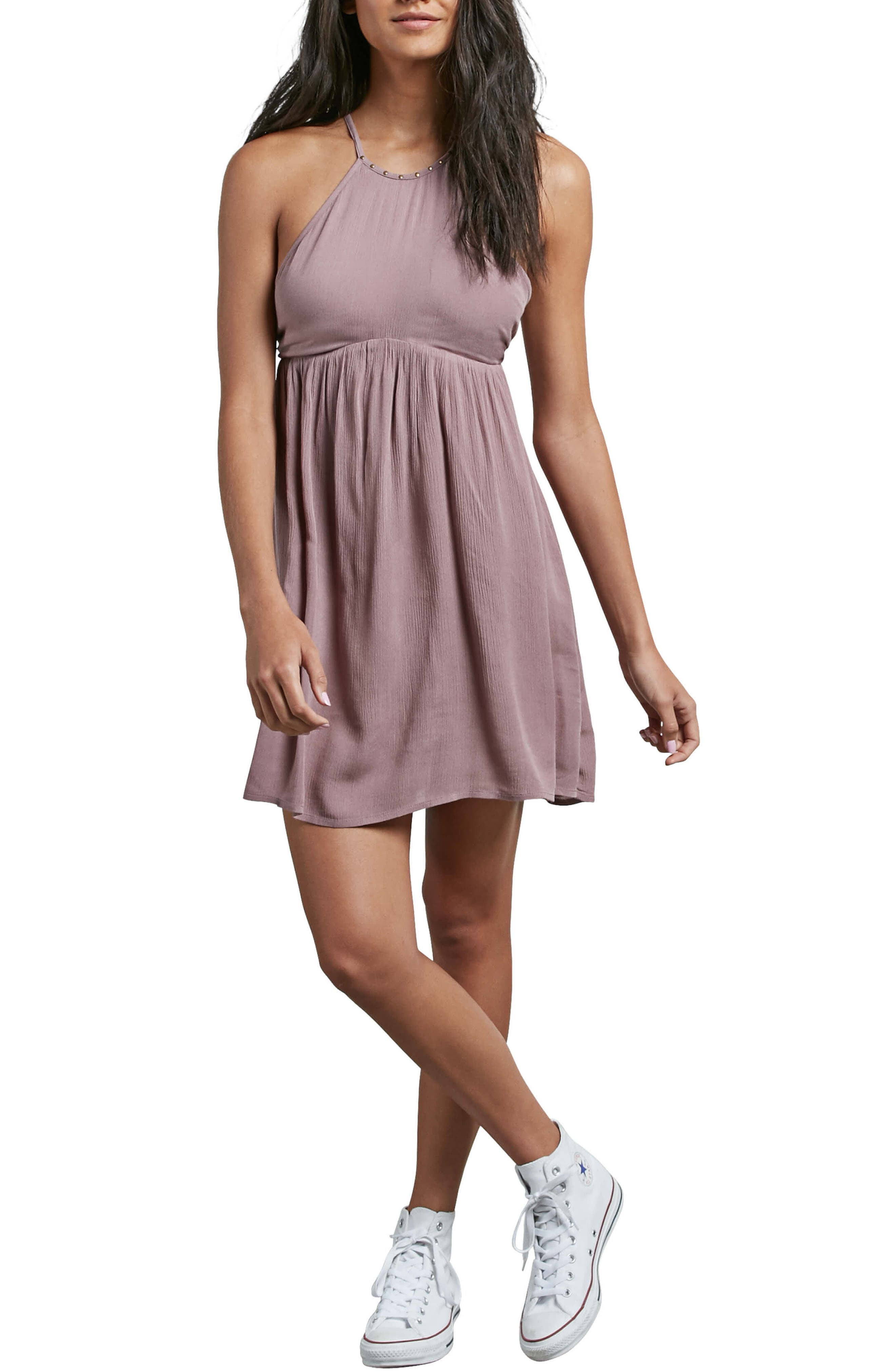 What a Stud Babydoll Dress,                         Main,                         color, 500