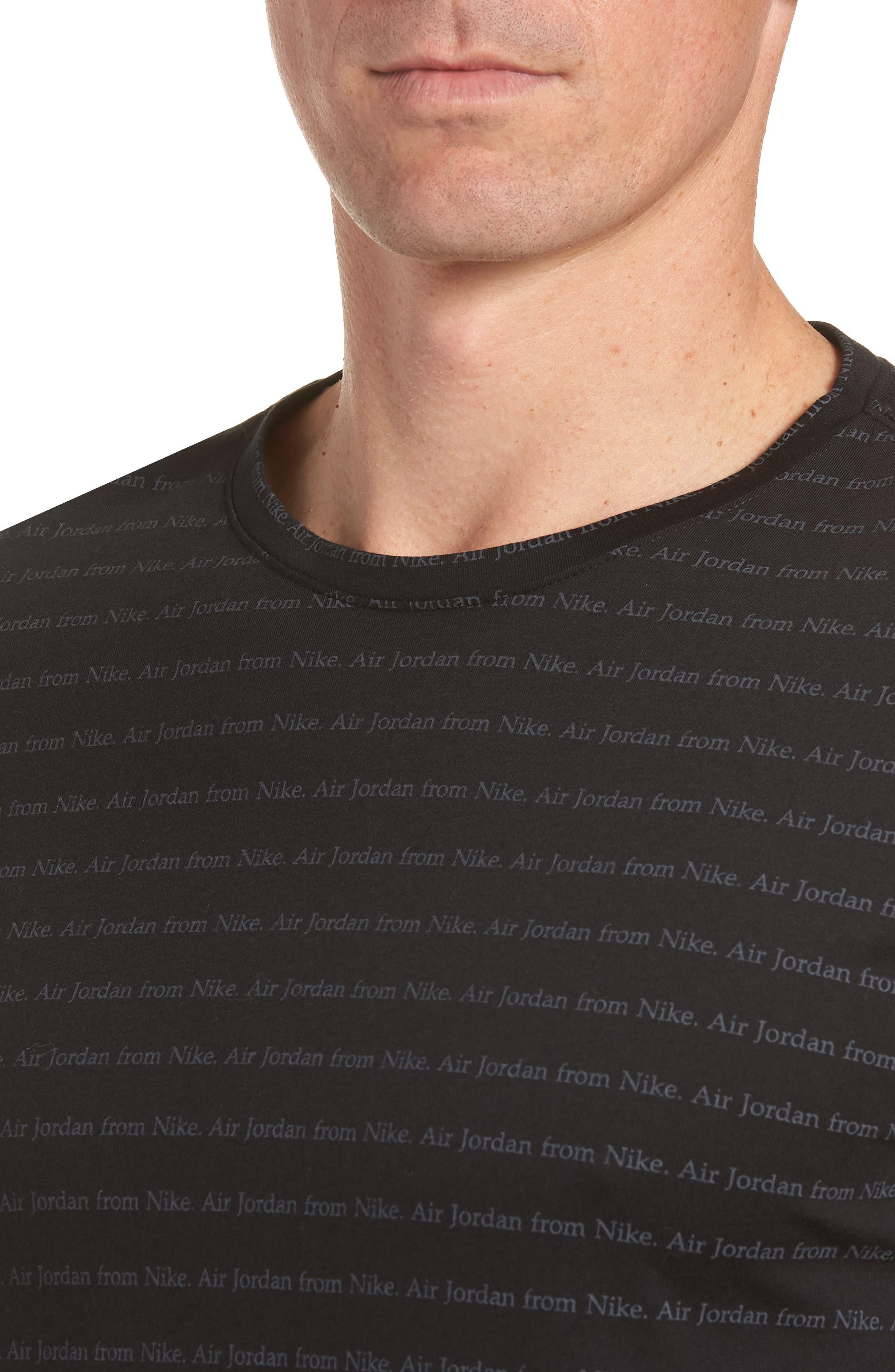 Sportswear T-Shirt,                             Alternate thumbnail 4, color,                             BLACK