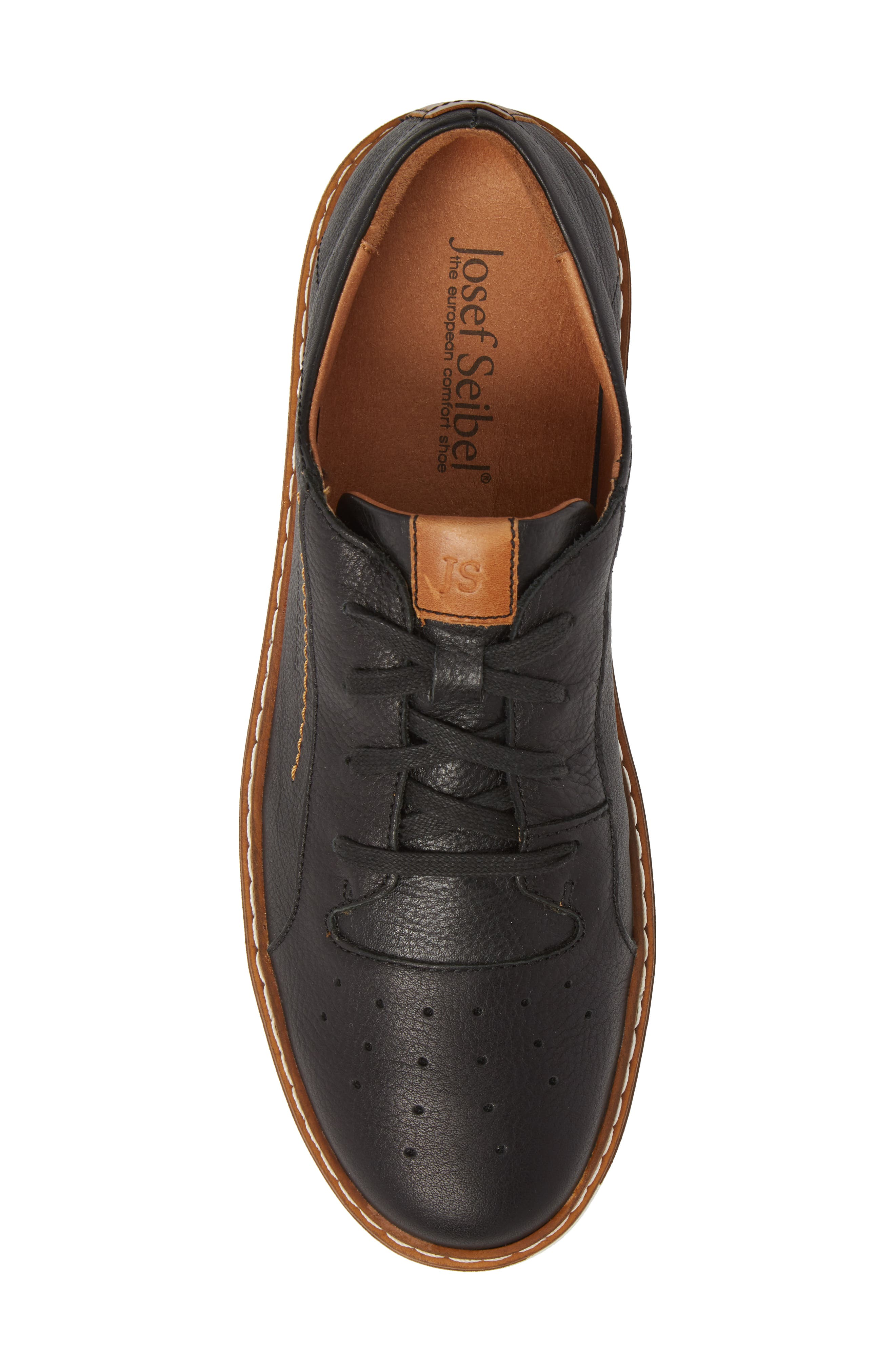Quentin 03 Low Top Sneaker,                             Alternate thumbnail 5, color,                             BLACK KOMBI LEATHER