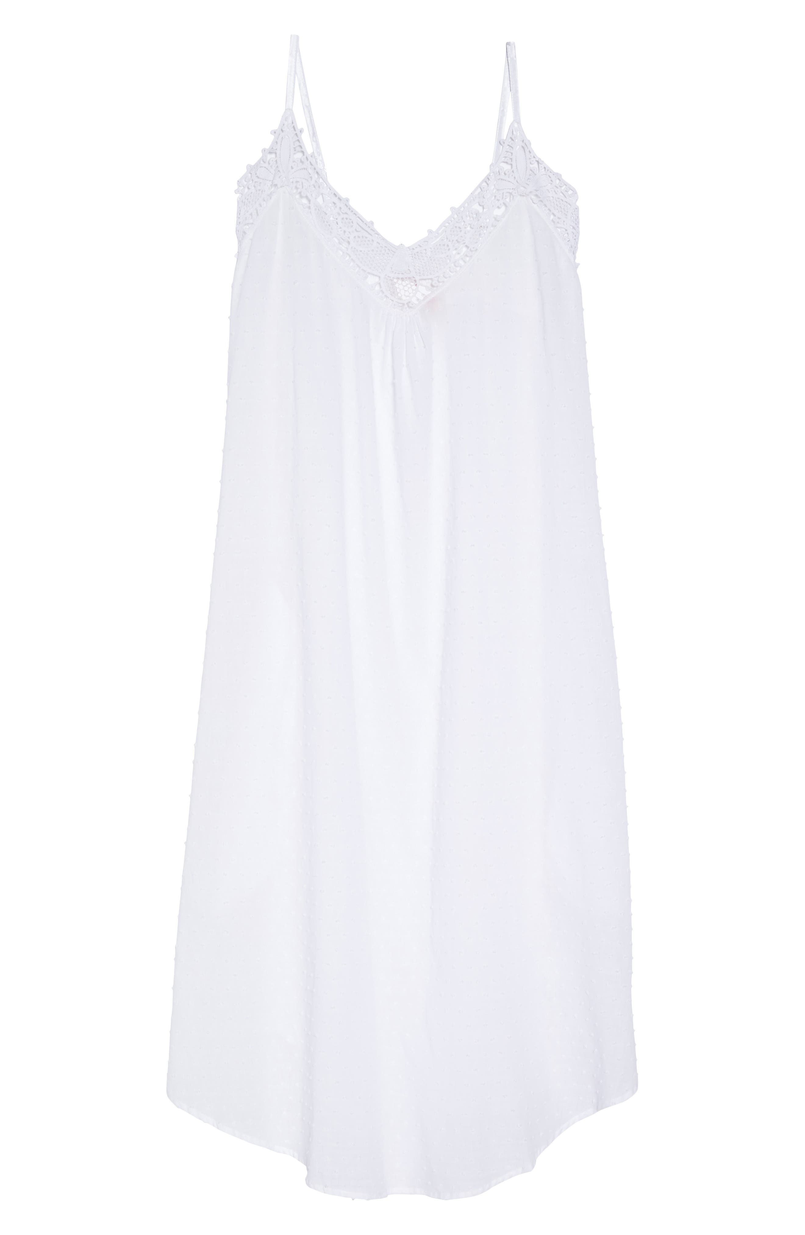 Swiss Dot Nightgown,                             Alternate thumbnail 6, color,