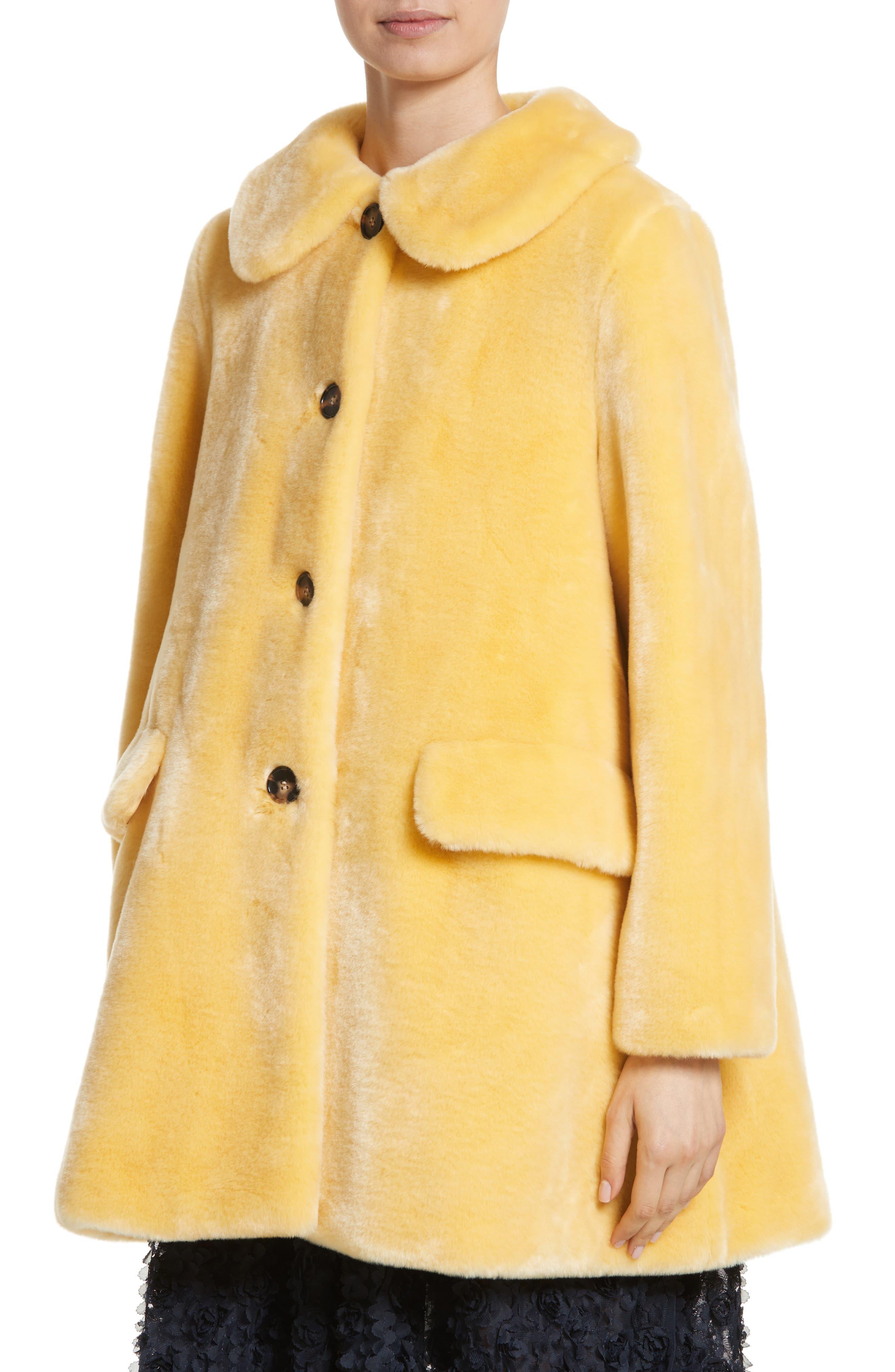 Pyrus Oversized Faux Fur Coat,                             Alternate thumbnail 4, color,                             700