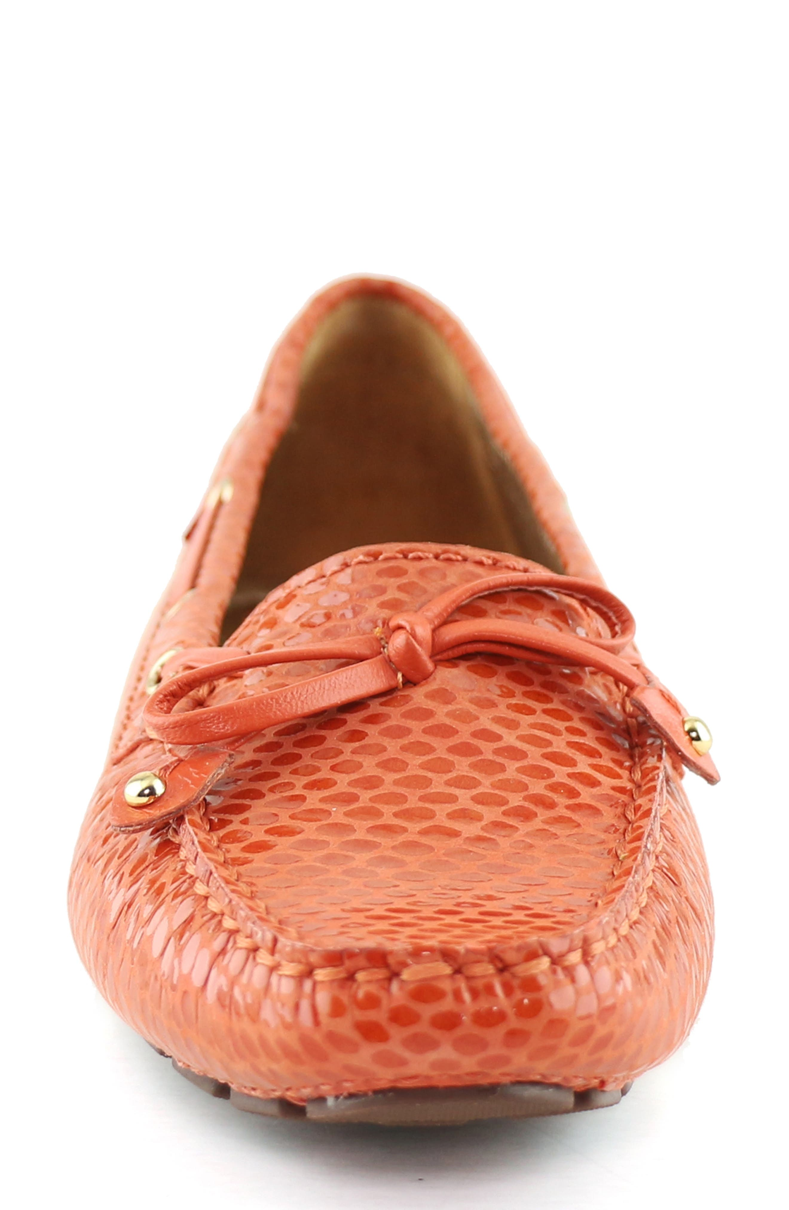 MARC JOSEPH NEW YORK,                             'Cypress Hill' Loafer,                             Alternate thumbnail 4, color,                             CORAL SNAKE PRINT LEATHER