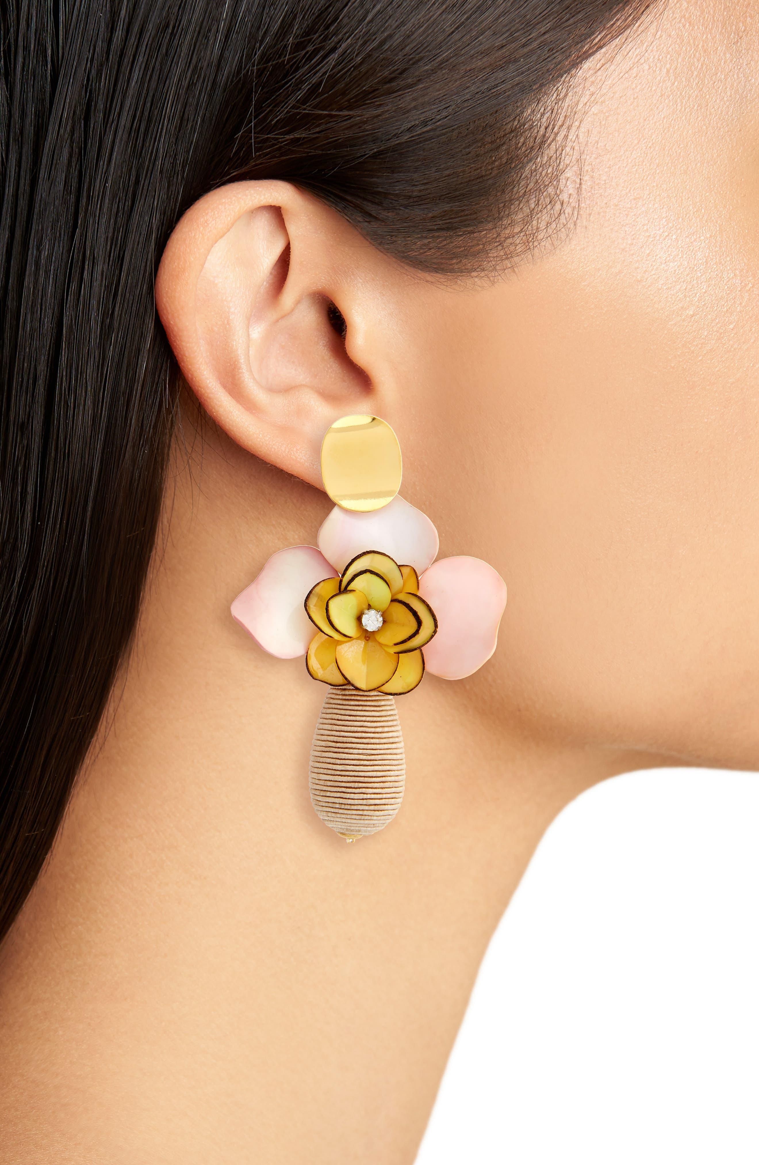 Magnolia Drop Earrings,                             Alternate thumbnail 2, color,                             250