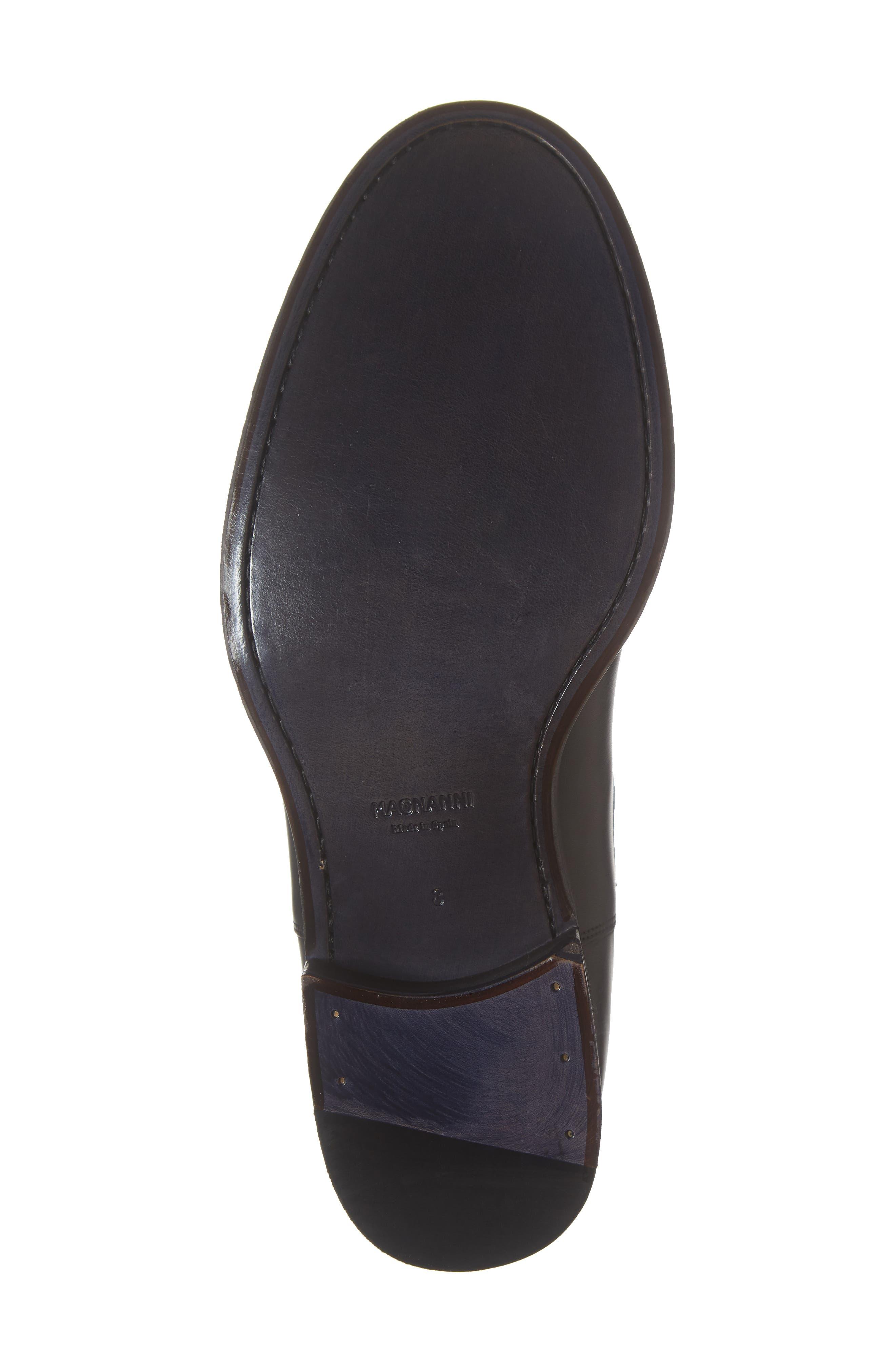 Saburo Water Resistant Chelsea Boot,                             Alternate thumbnail 6, color,                             BLACK LEATHER