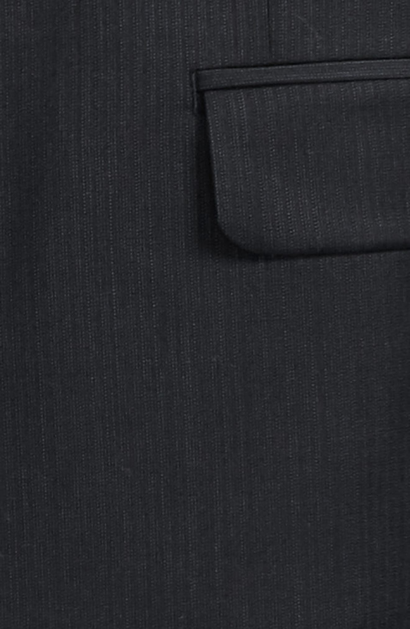 Stripe Wool Suit,                             Alternate thumbnail 2, color,                             001