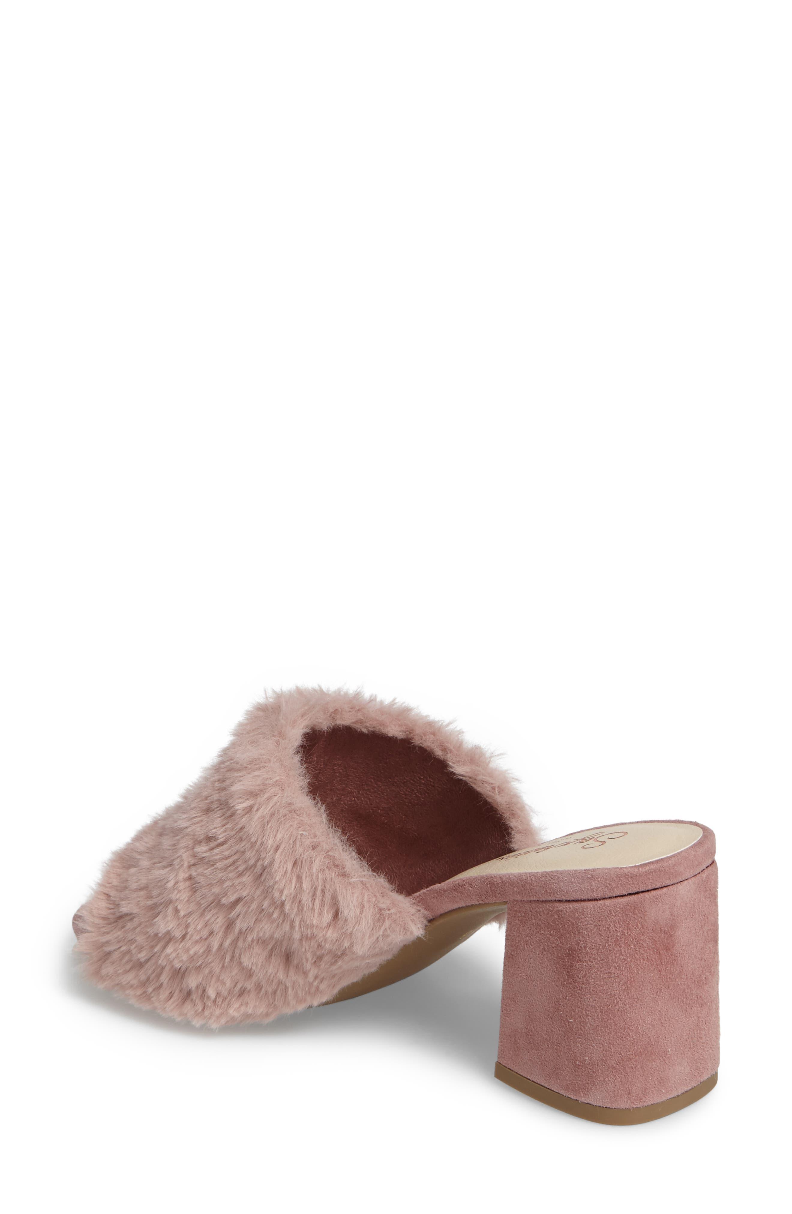 Nobody Else Faux Fur Slide Sandal,                             Alternate thumbnail 4, color,