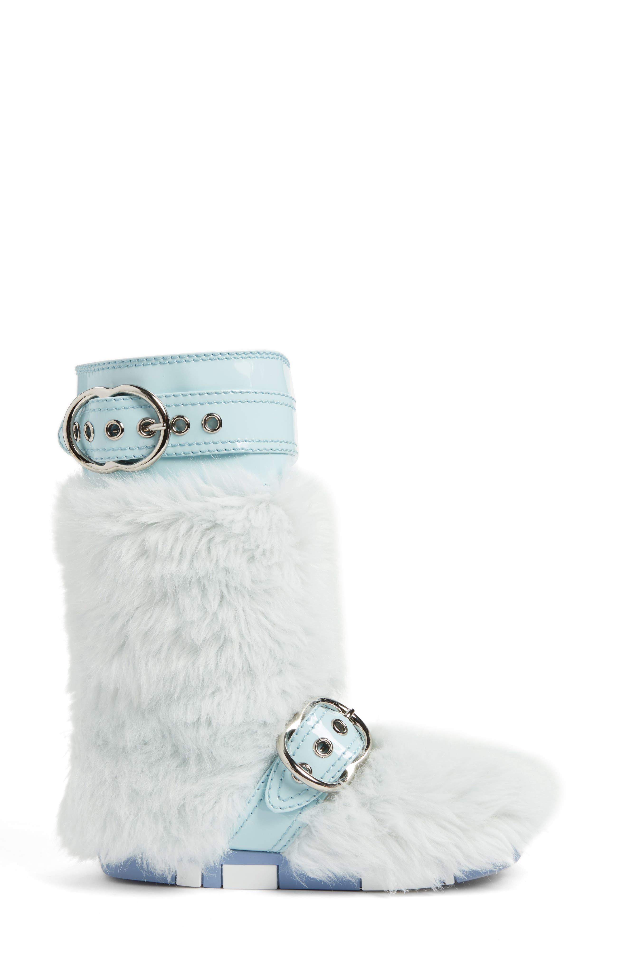 Faux Fur Buckle Boots,                             Alternate thumbnail 3, color,                             453