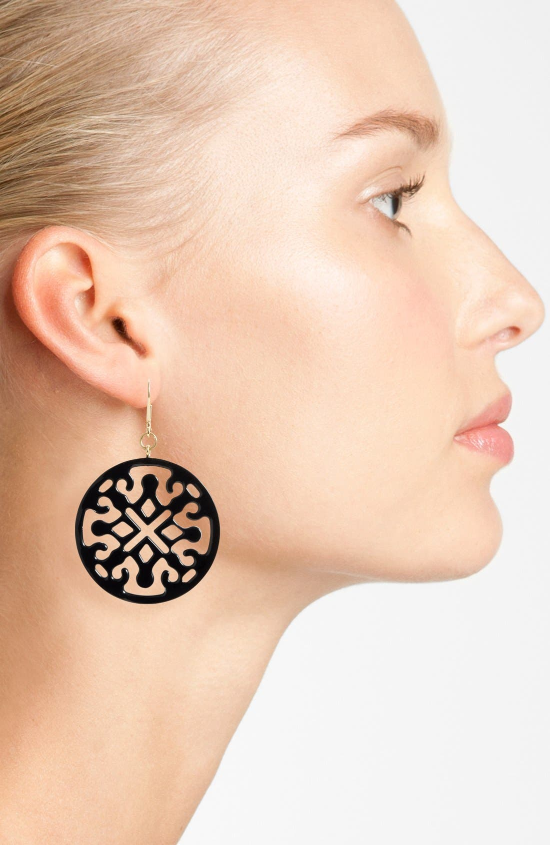Medallion Filigree Drop Earrings,                             Alternate thumbnail 2, color,                             001