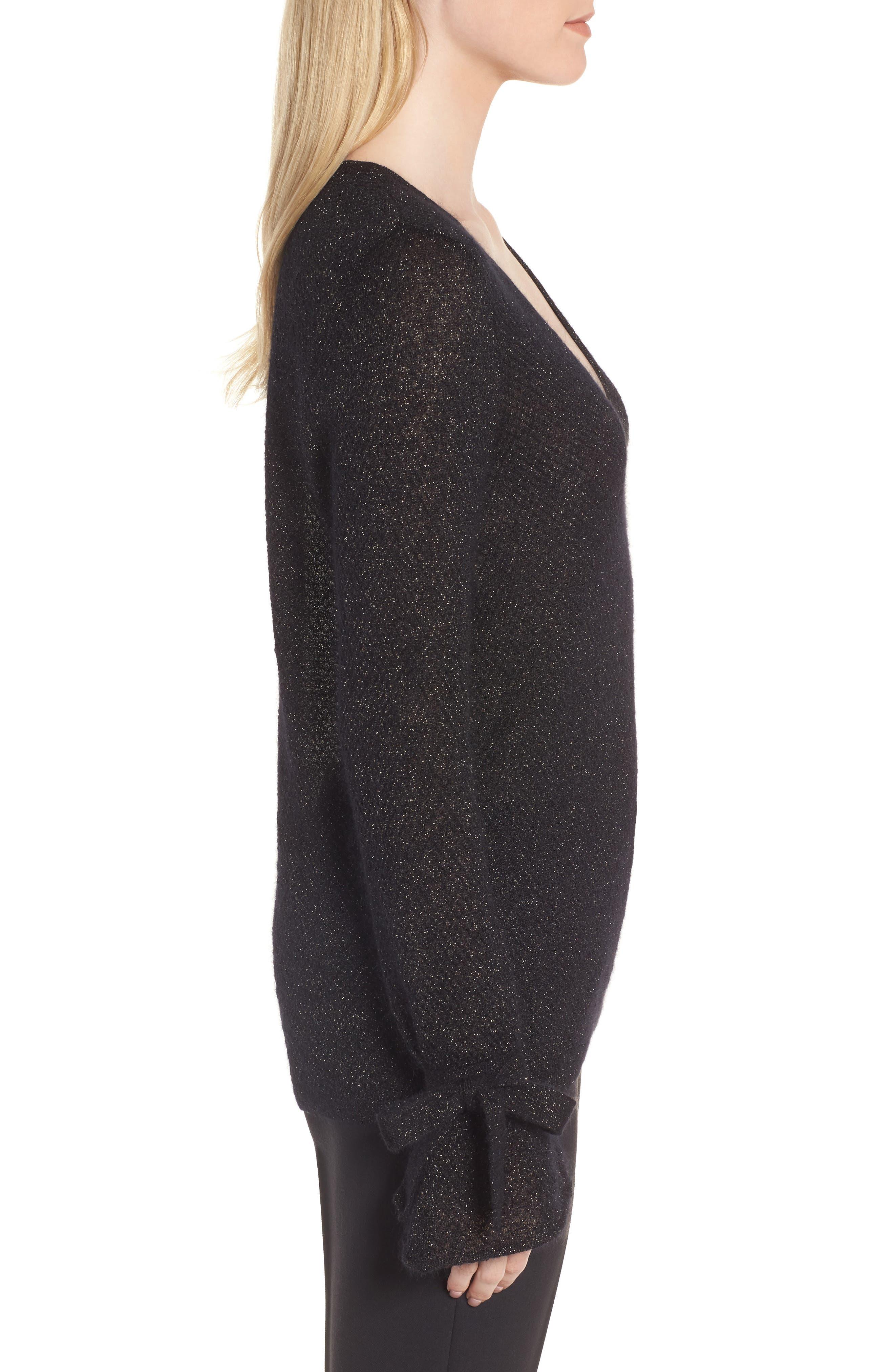 Metallic Mohair Blend Sweater,                             Alternate thumbnail 6, color,