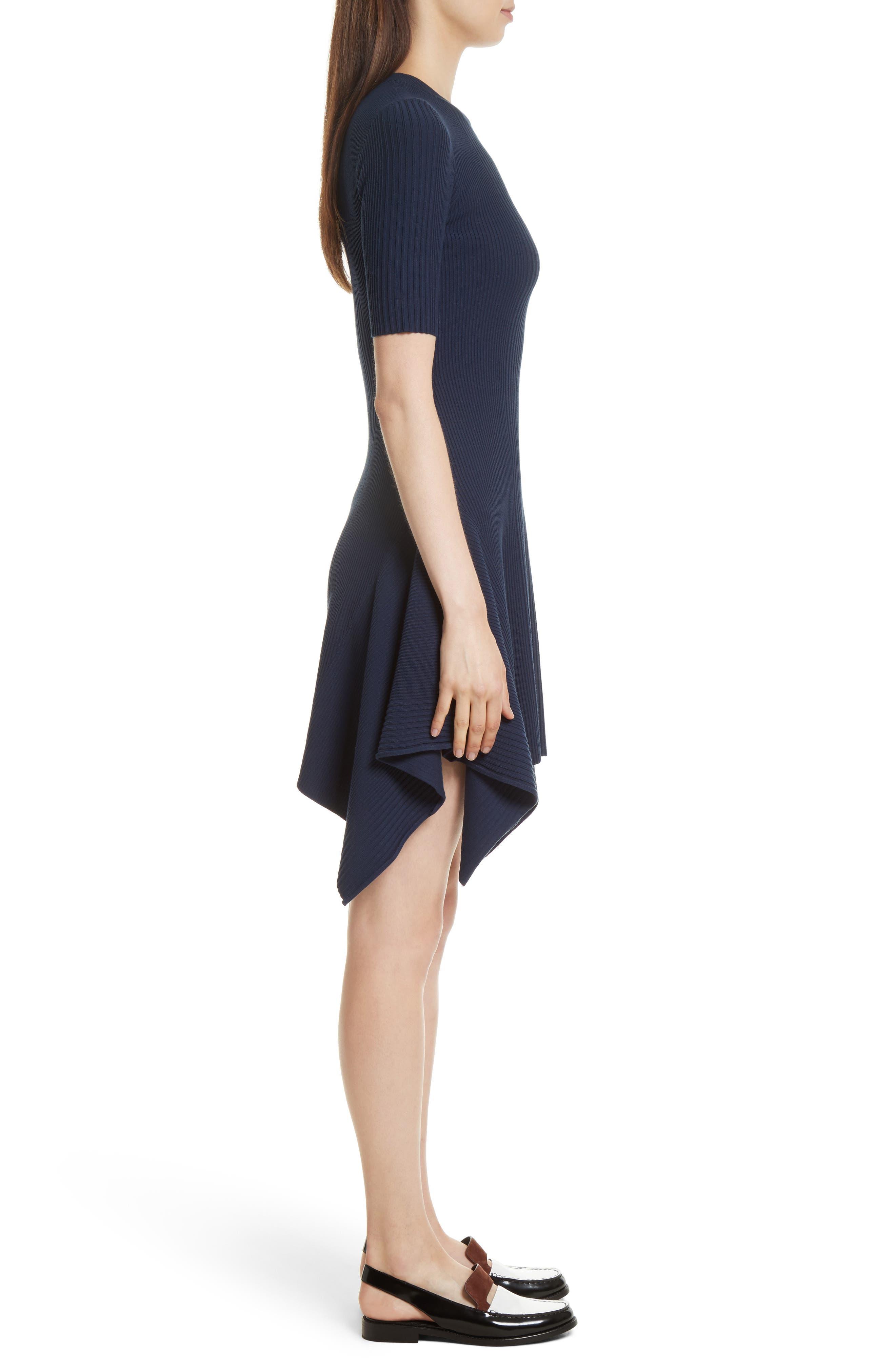 Delta Rib Knit Dress,                             Alternate thumbnail 3, color,                             401