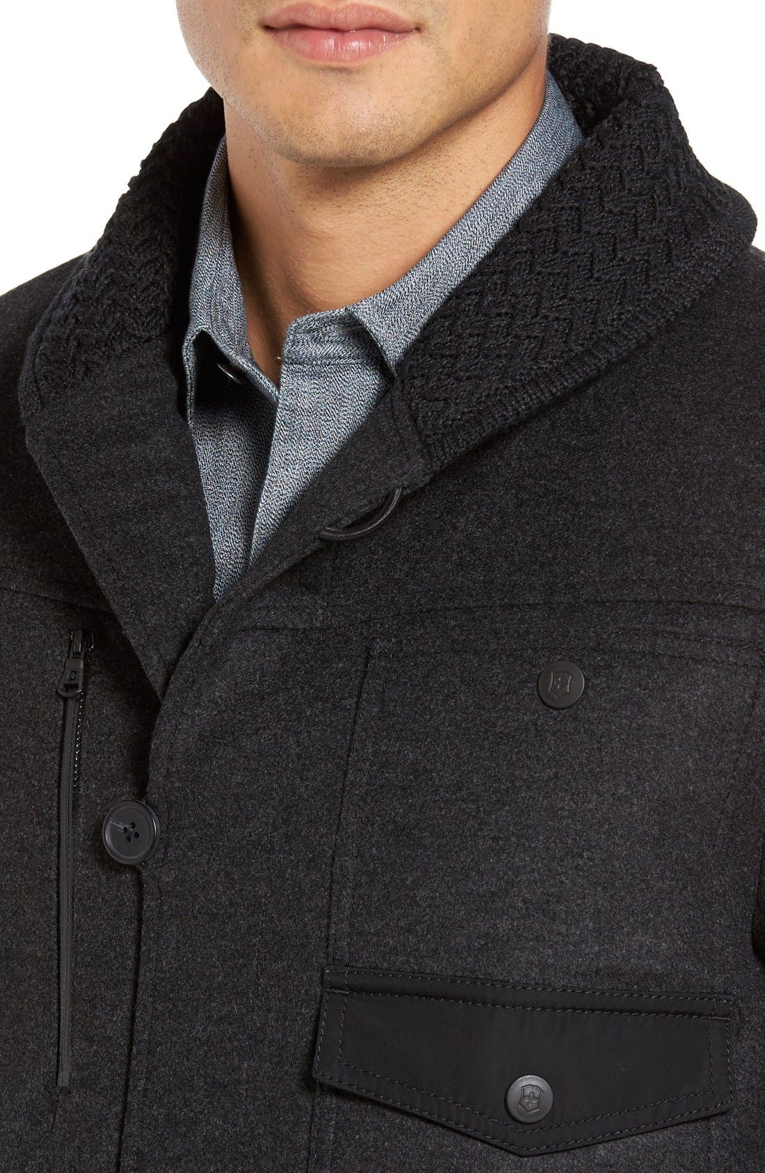 VICTORINOX SWISS ARMY<SUP>®</SUP>,                             Masonry Limited Edition Wool Blend Coat,                             Alternate thumbnail 3, color,                             062
