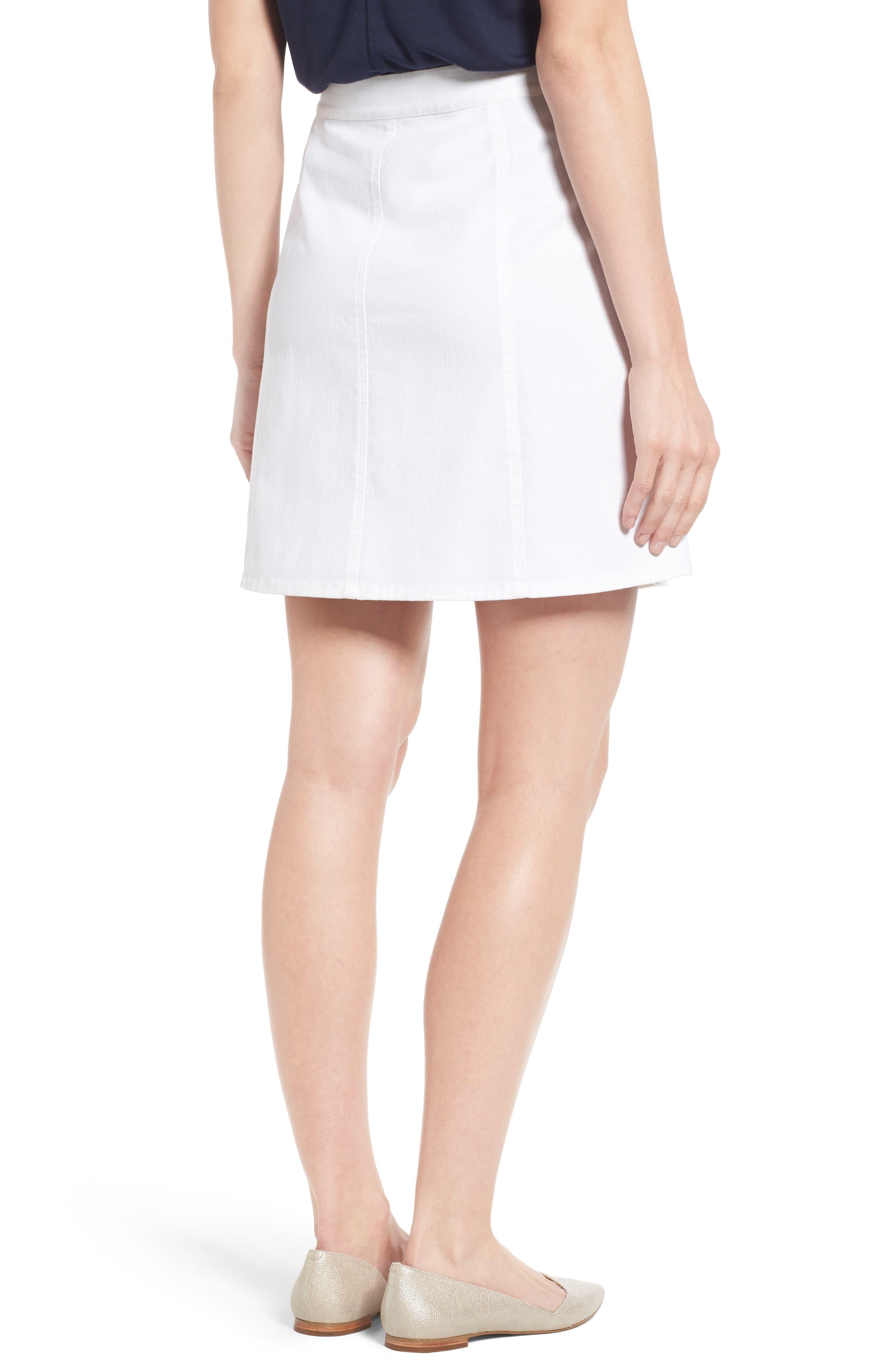 Stretch Denim Miniskirt,                             Alternate thumbnail 2, color,                             106