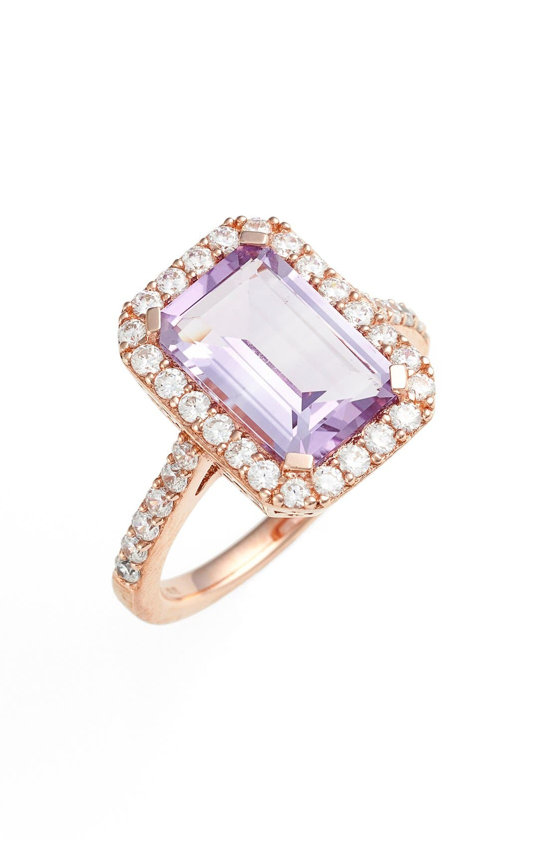 'Aria' Emerald Cut Ring,                             Main thumbnail 1, color,                             500