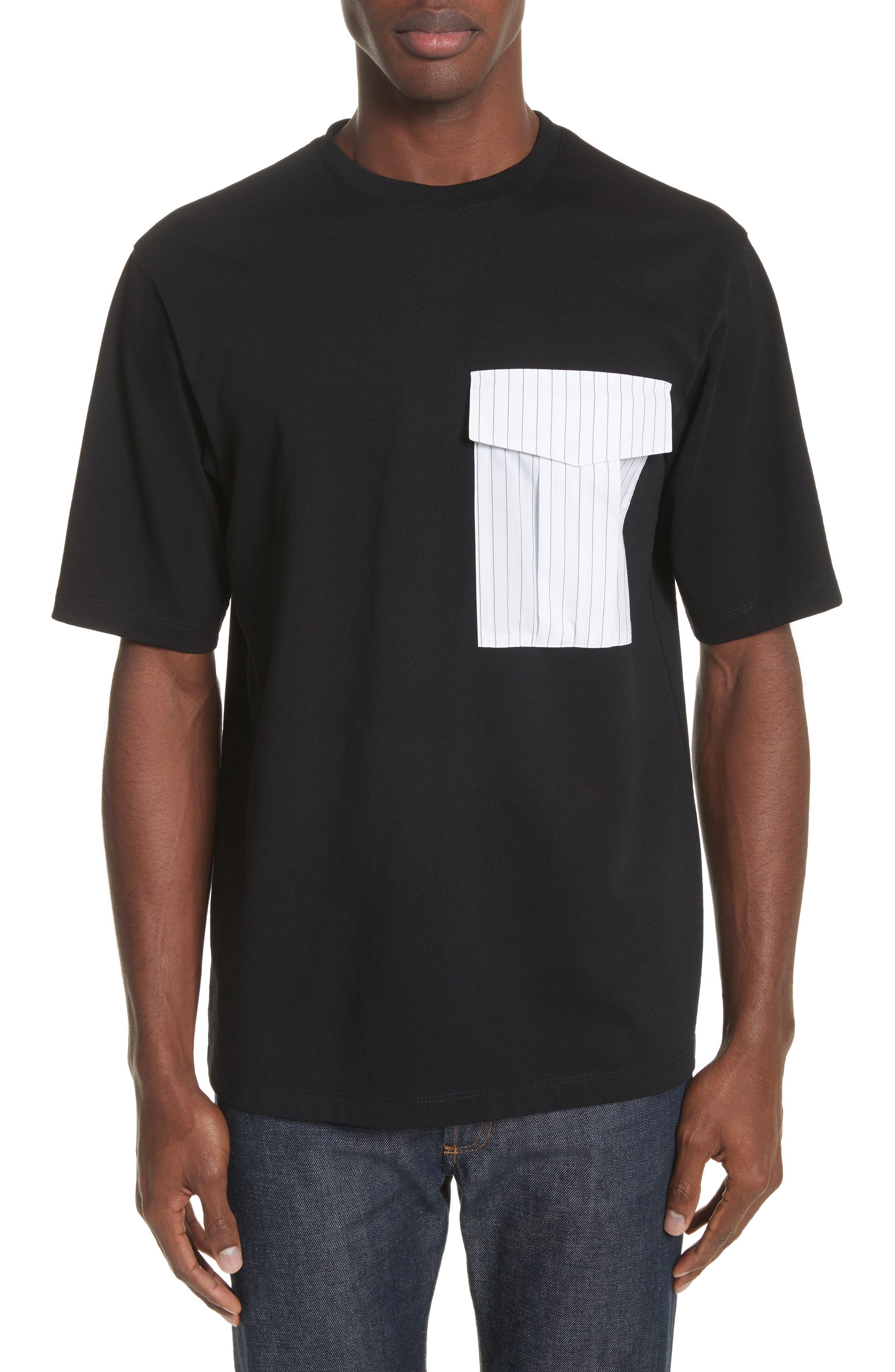Pinstripe Pocket T-Shirt,                         Main,                         color,