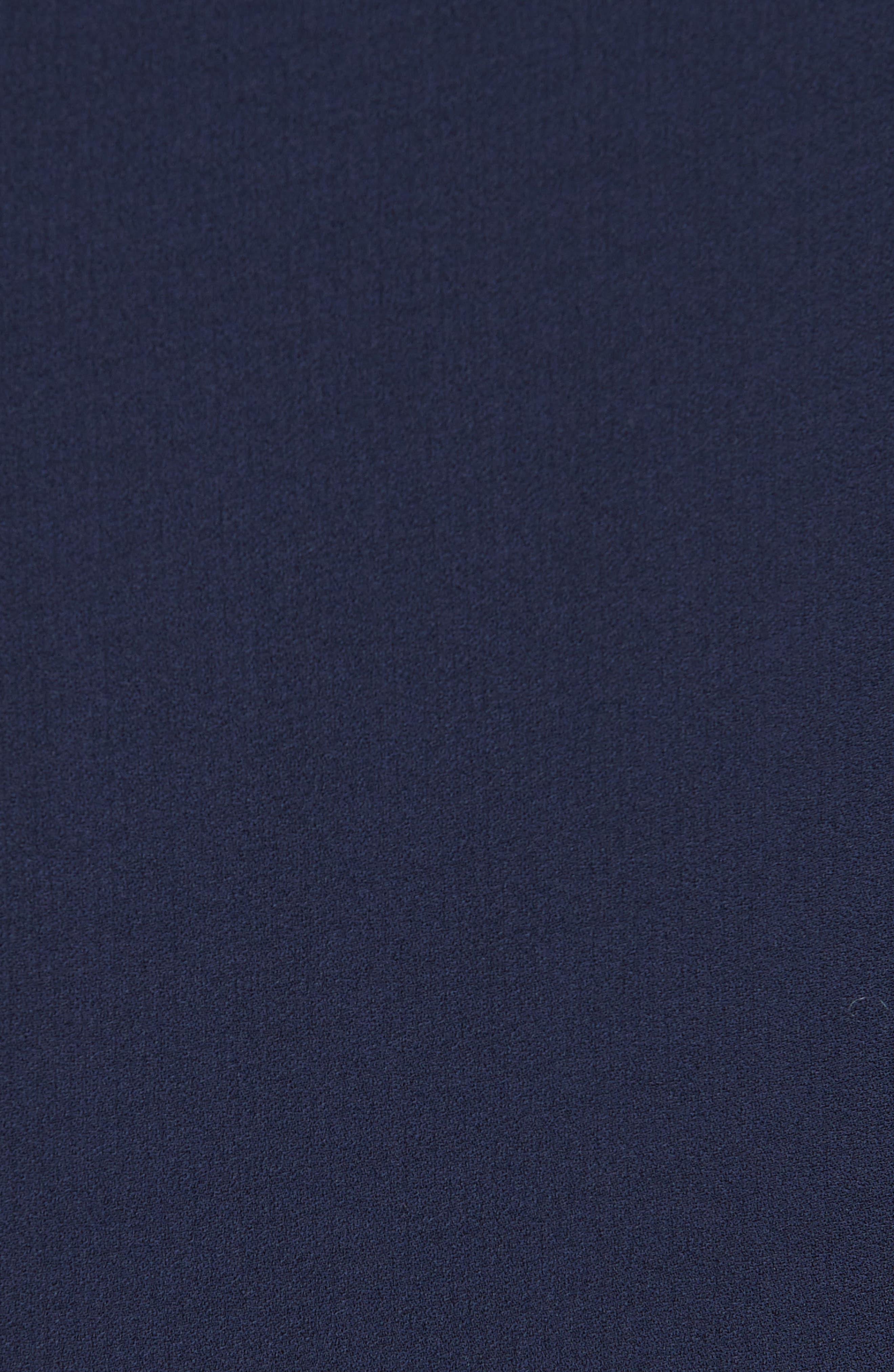 EILEEN FISHER,                             Slit Sleeve Silk Top,                             Alternate thumbnail 5, color,                             MIDNIGHT