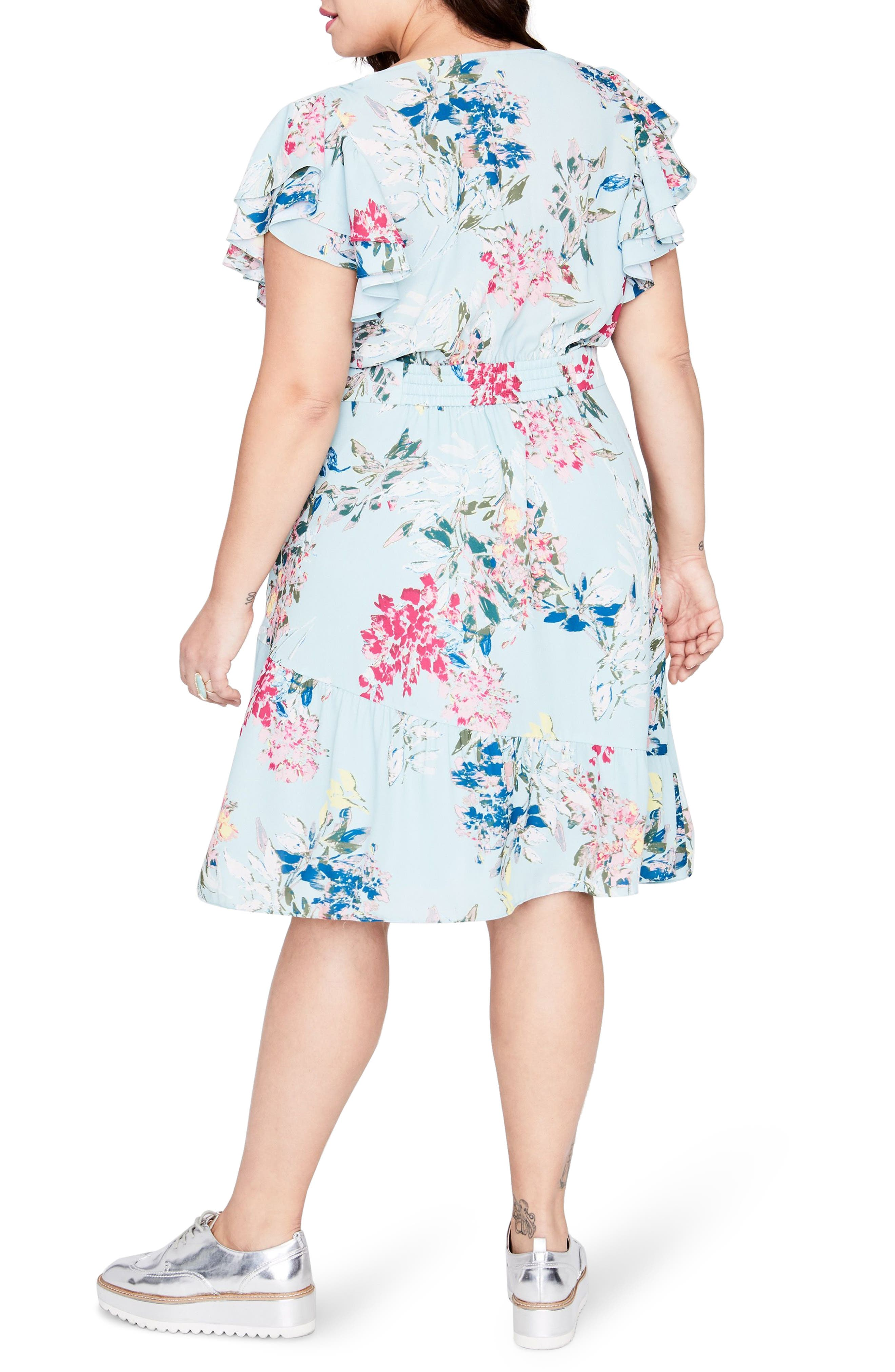 Easy Crossover Dress,                             Alternate thumbnail 2, color,                             MINT LEAF COMBO