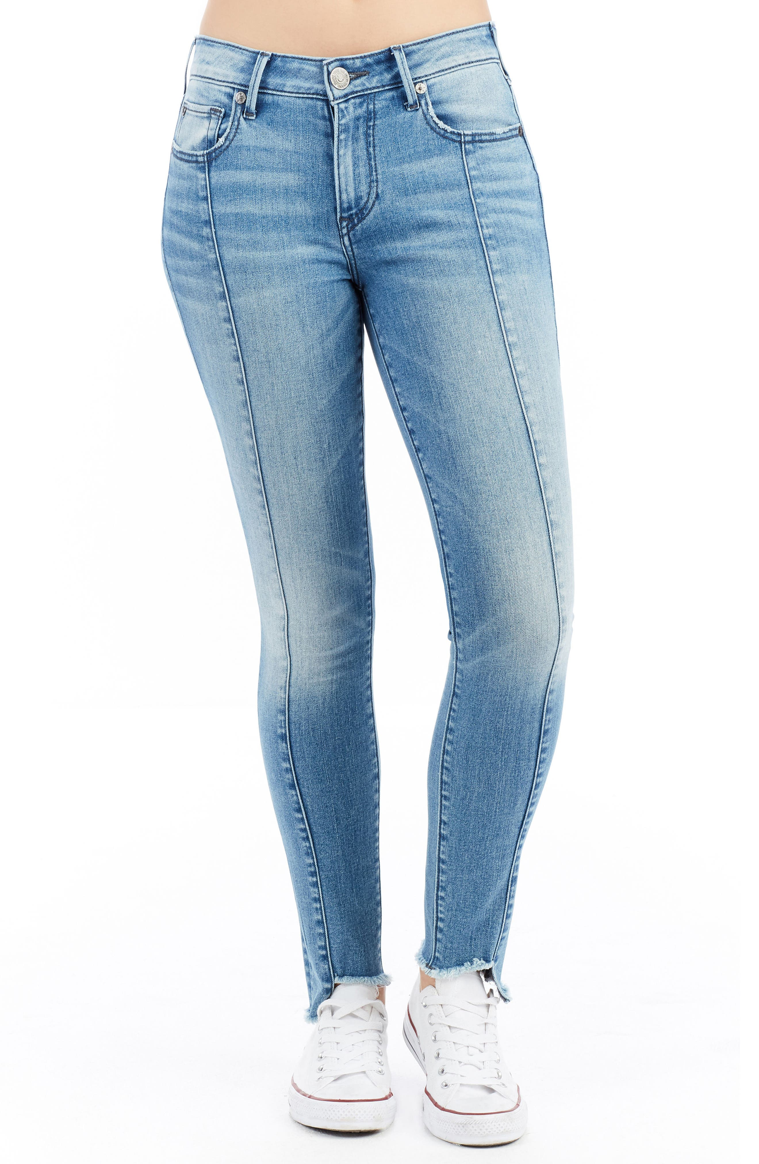 Jennie Curvy Ankle Skinny Jeans,                             Main thumbnail 1, color,                             401