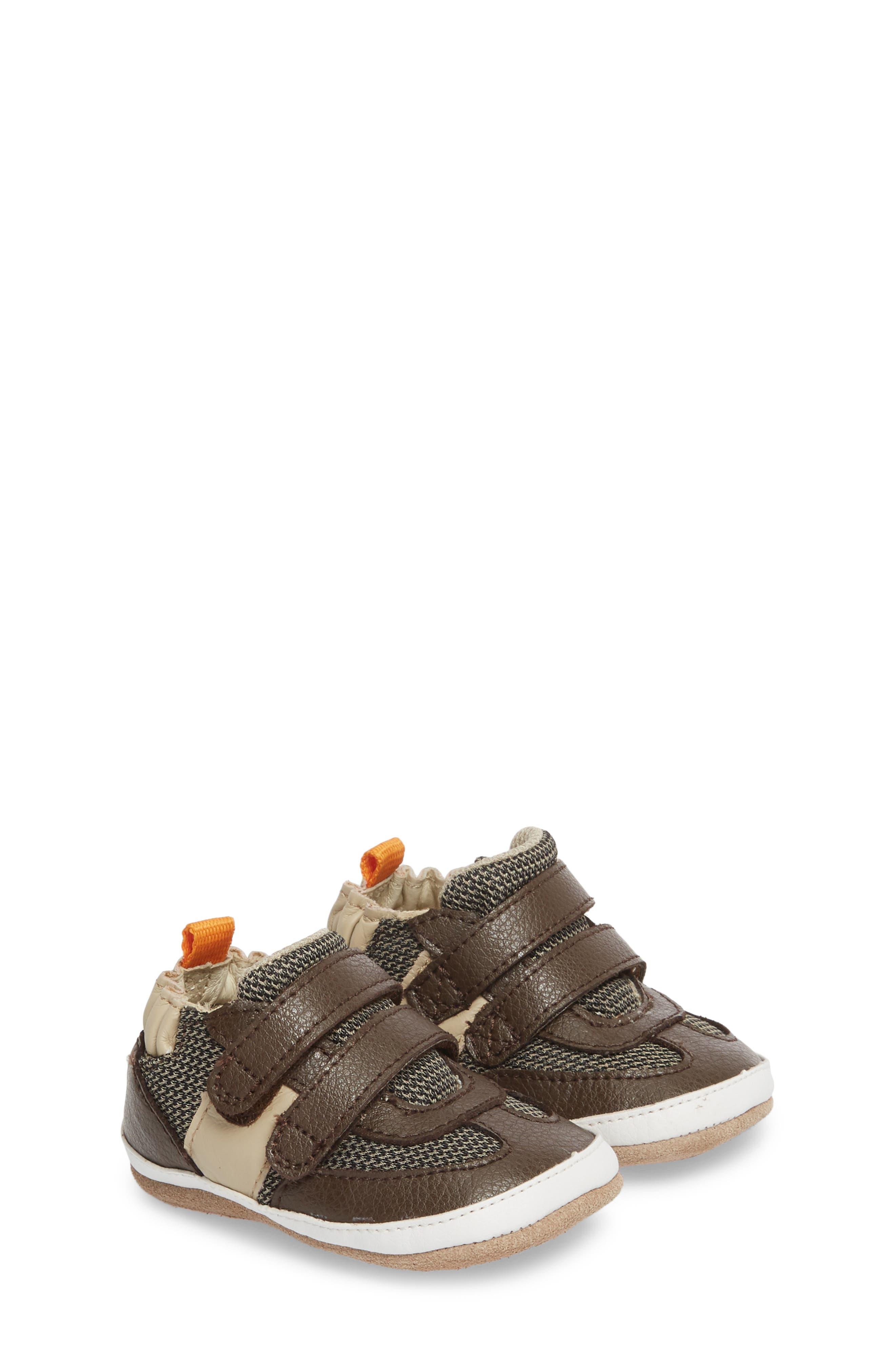Active Alex Crib Sneaker,                             Main thumbnail 1, color,                             ESPRESSO