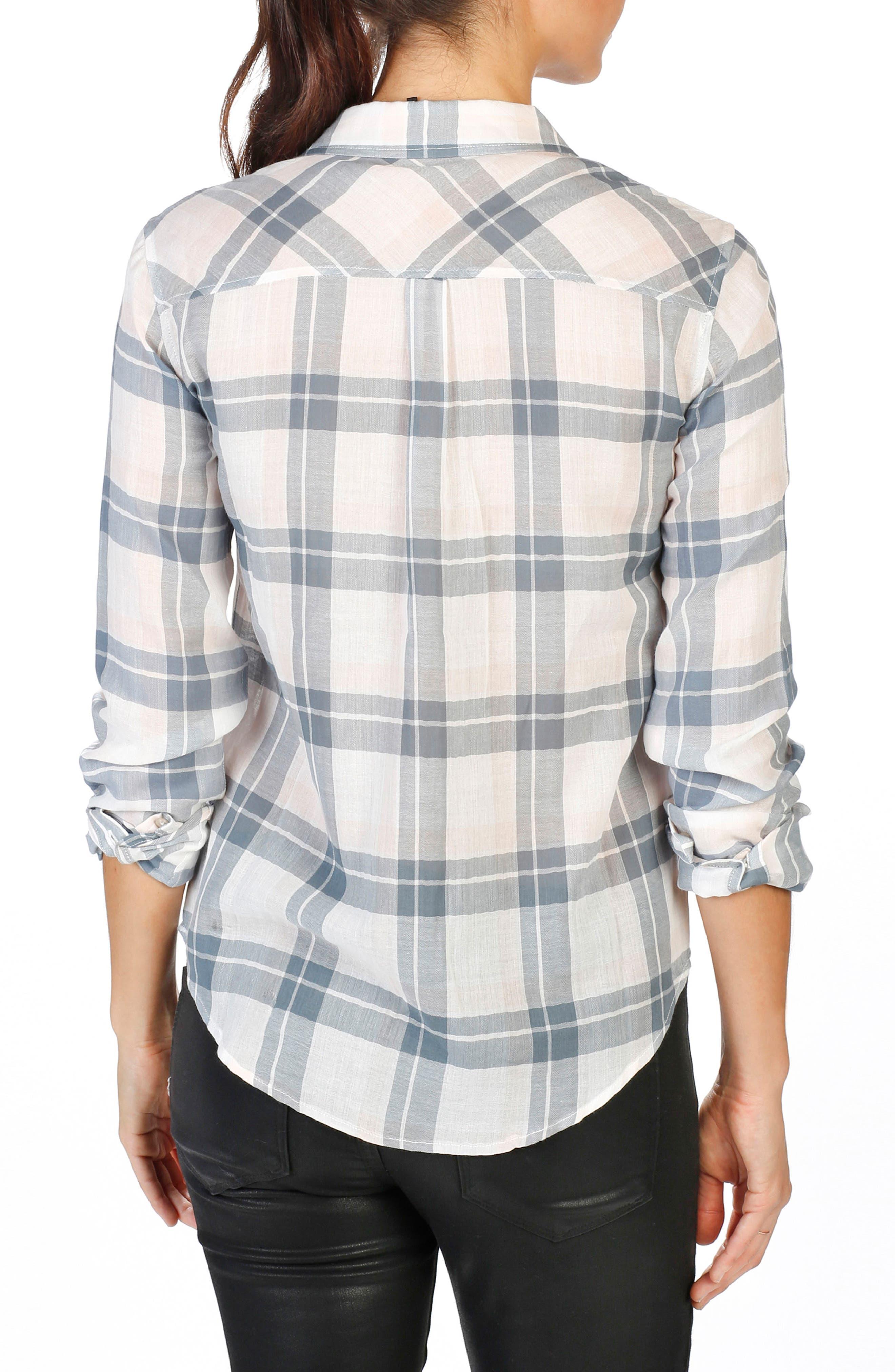 Mya Plaid Shirt,                             Alternate thumbnail 2, color,                             100