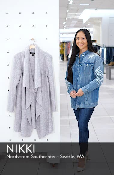 Boiled Wool Blend Drape Front Coat, sales video thumbnail