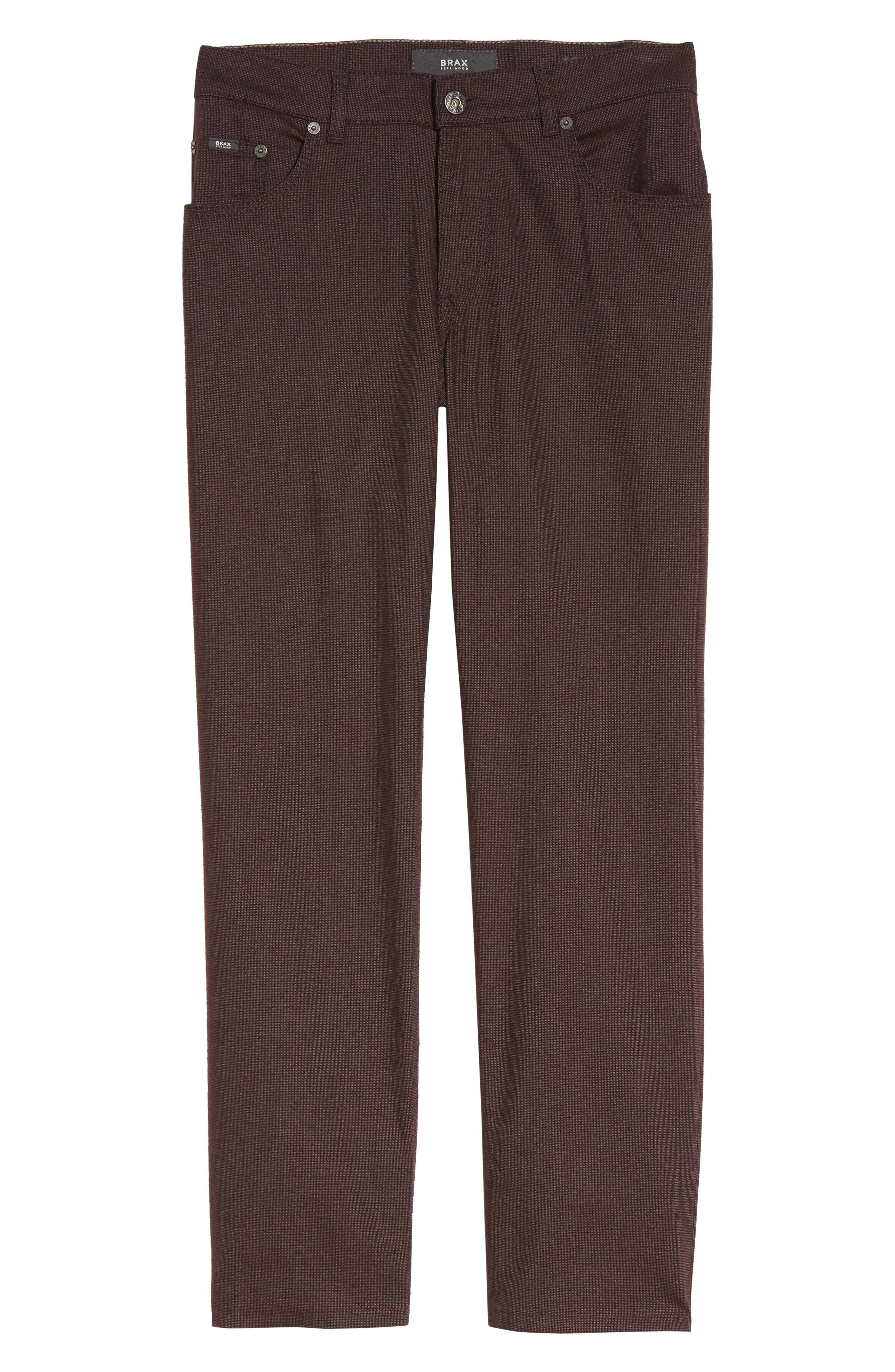Five-Pocket Stretch Cotton Trousers,                             Alternate thumbnail 30, color,