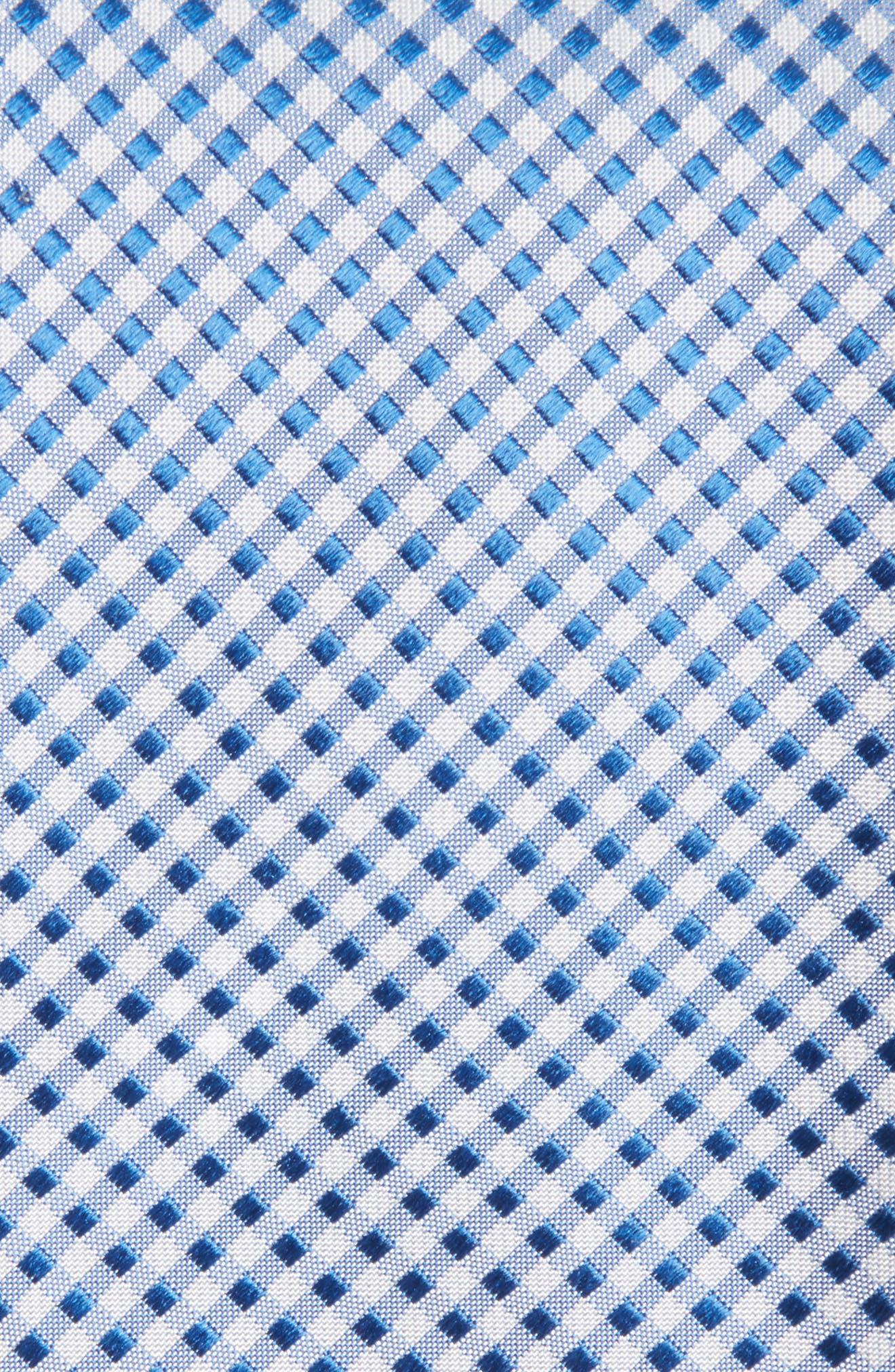 Grid Silk Tie,                             Alternate thumbnail 3, color,