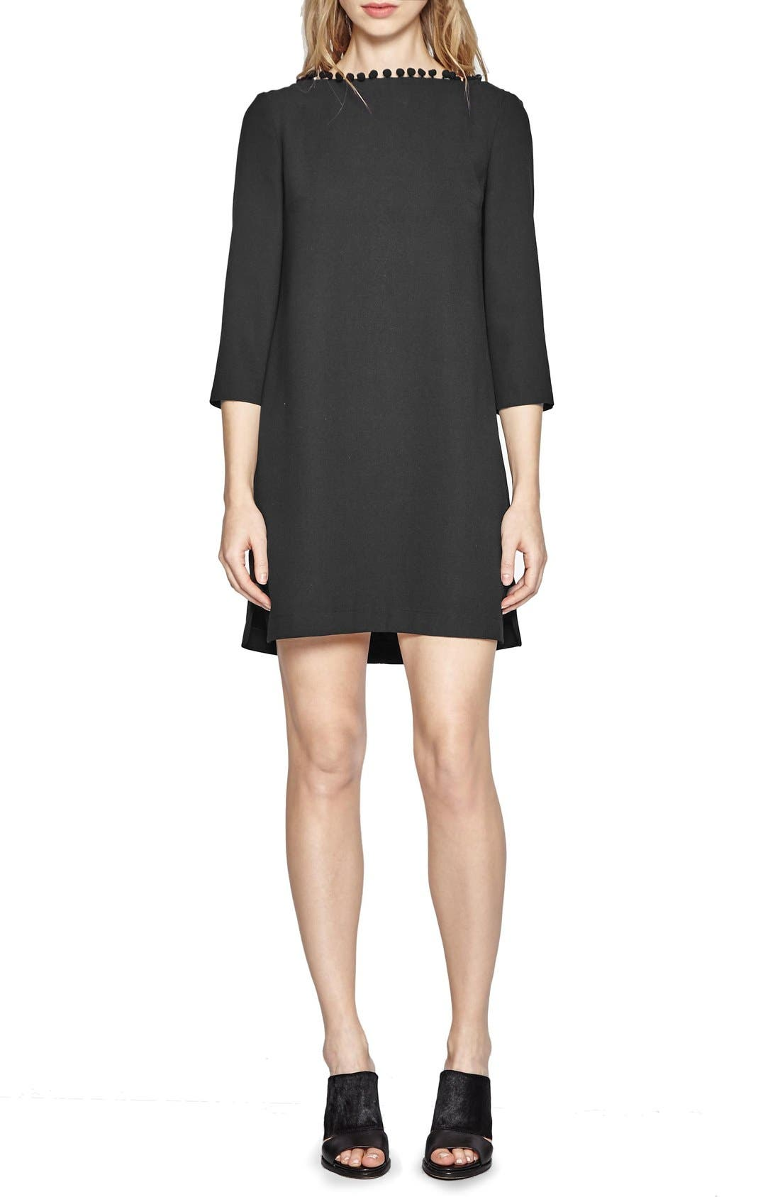 FRENCH CONNECTION,                             Arrow Dress,                             Alternate thumbnail 3, color,                             001