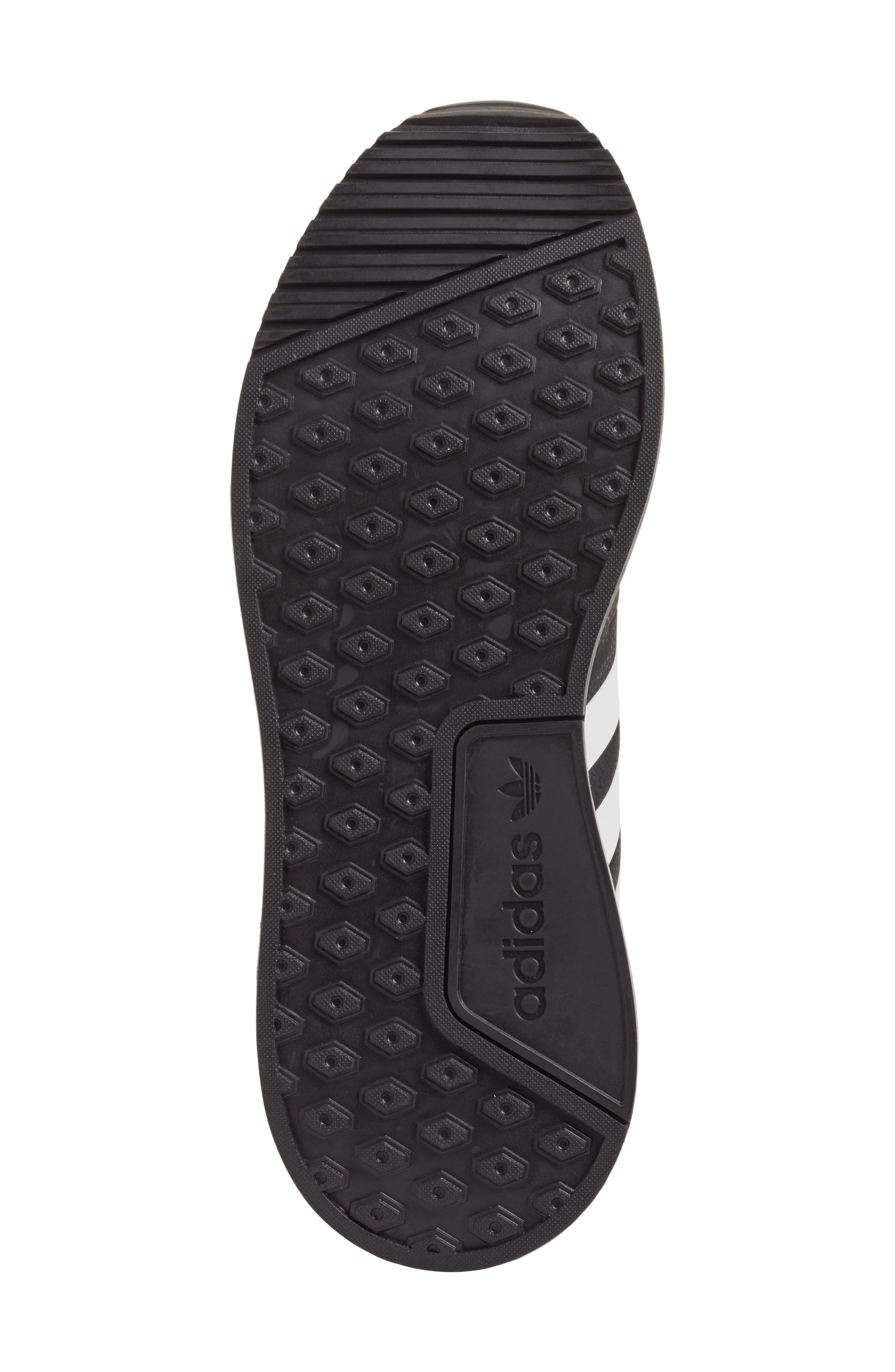 X_PLR Sneaker,                             Alternate thumbnail 6, color,                             BLACK/ WHITE/ BLACK
