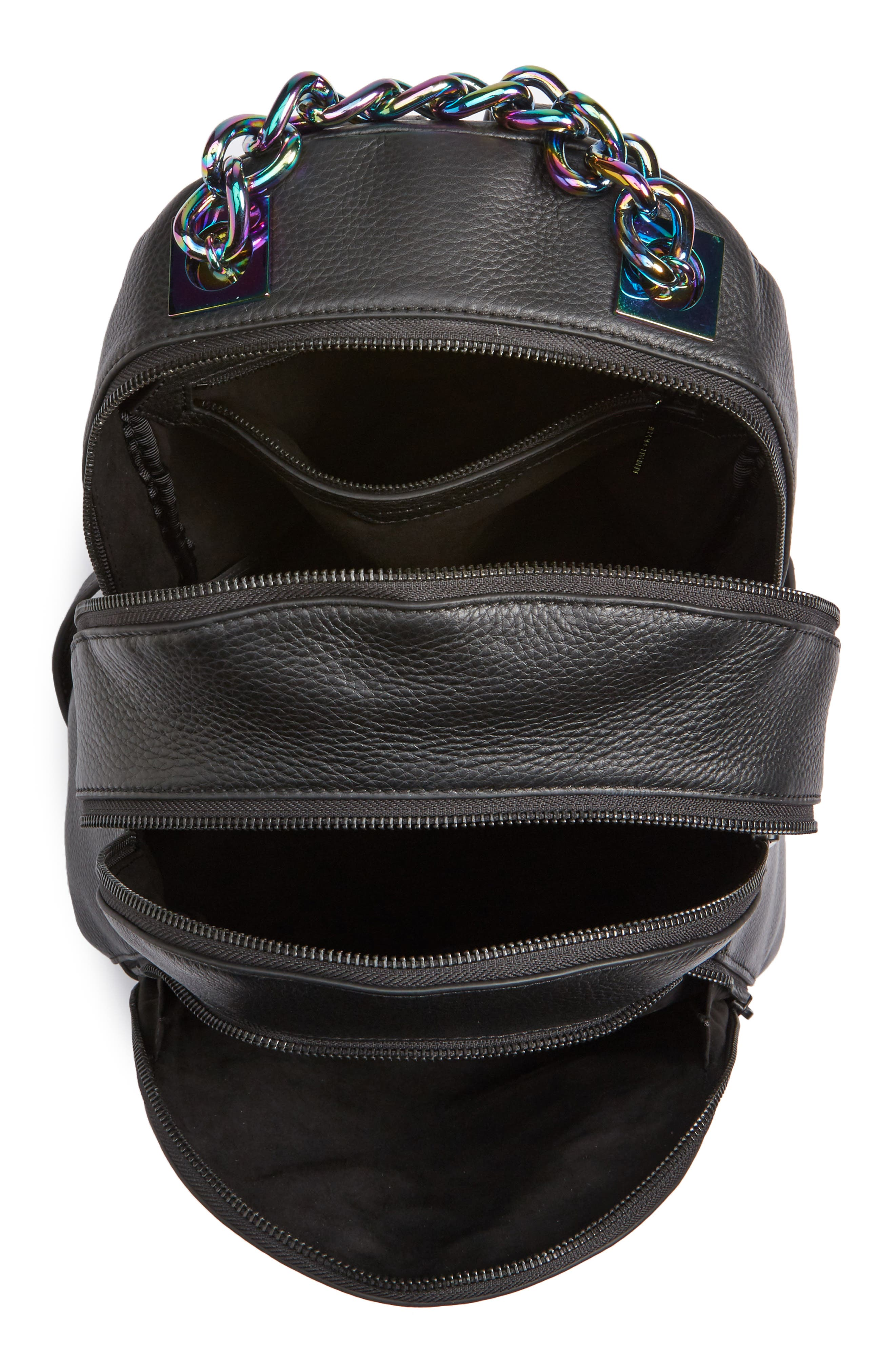 Sloane Iridescent Hardware Leather Backpack,                             Alternate thumbnail 4, color,