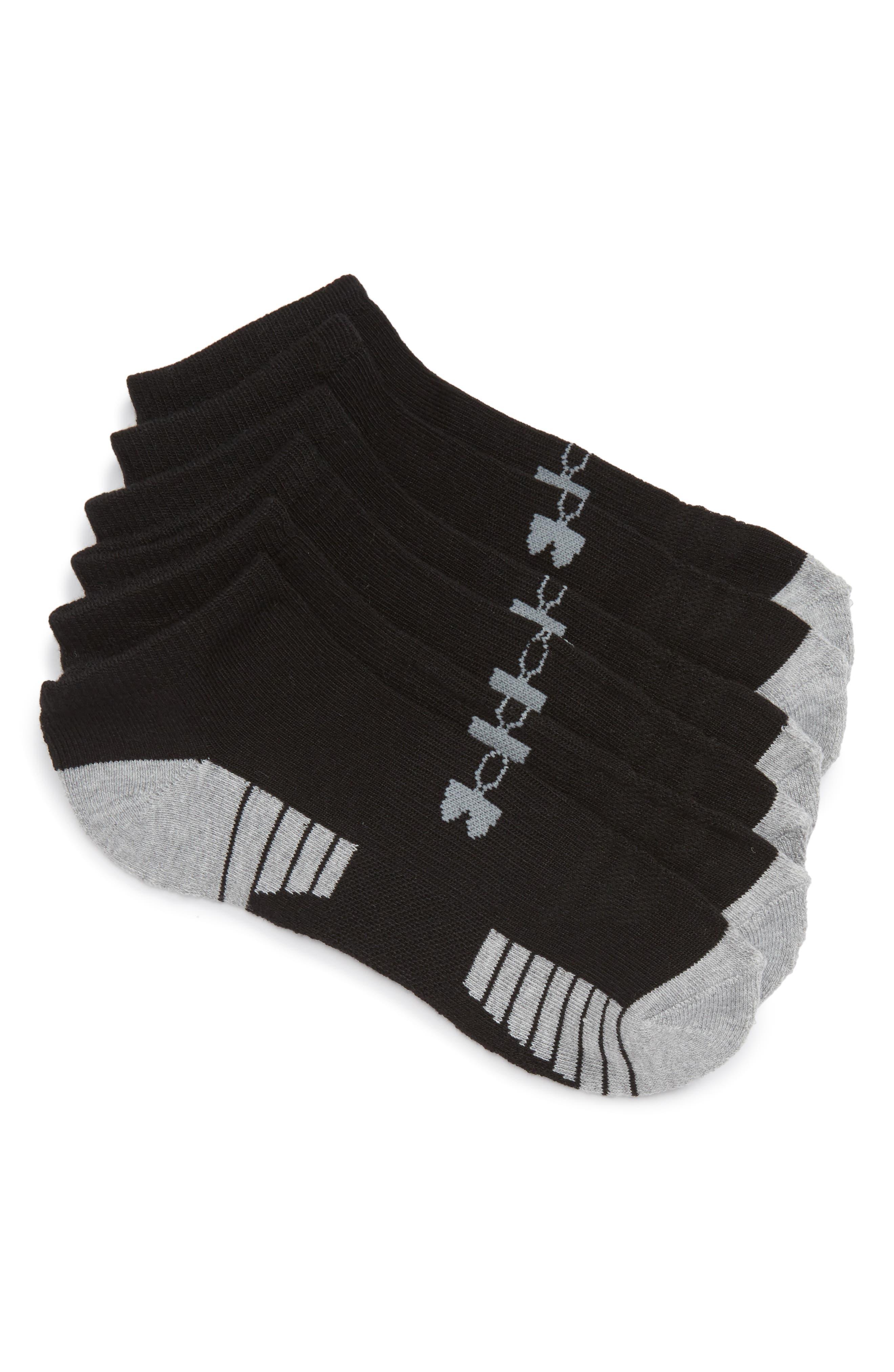 HeatGear 3-Pack No-Show Socks,                             Main thumbnail 1, color,                             001
